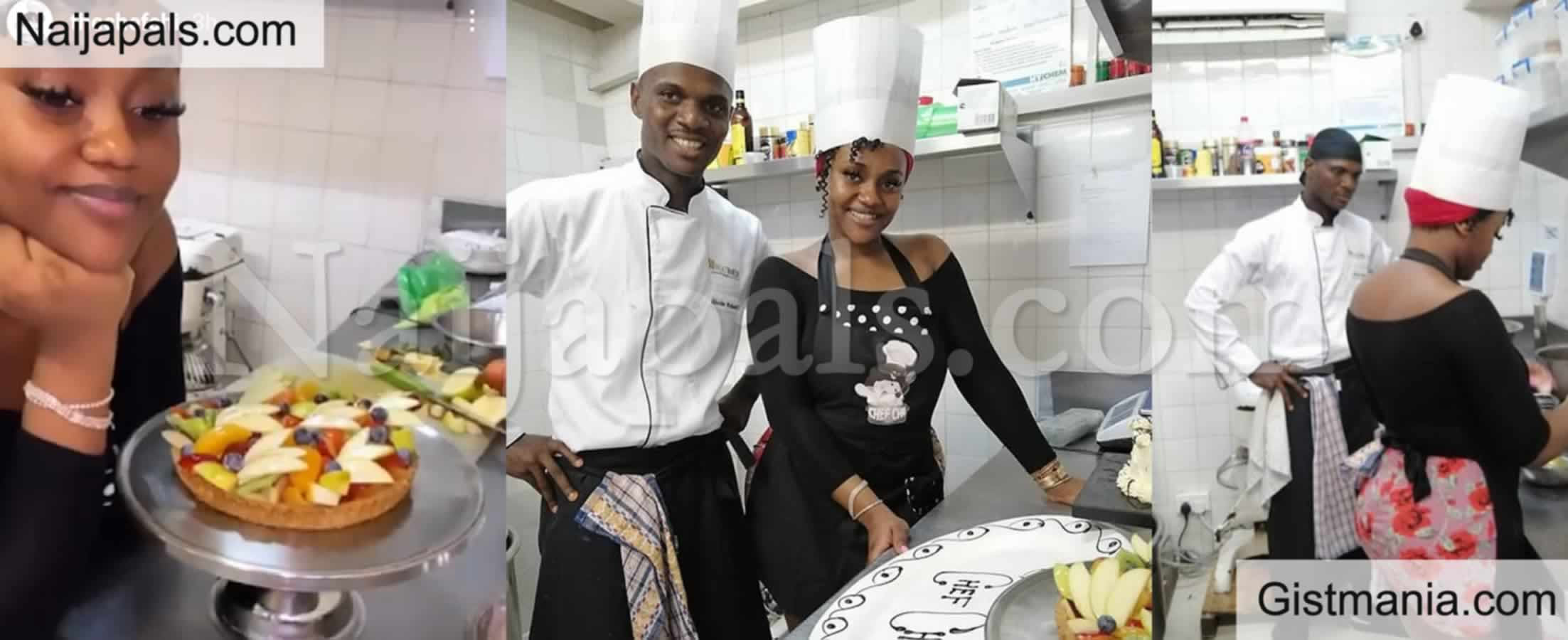 <img alt='.' class='lazyload' data-src='https://img.gistmania.com/emot/comment.gif' /> Amidst Break Up Rumors, <b>Davido's Fiancée Chioma Joins Baking School</b> (PHOTOS)