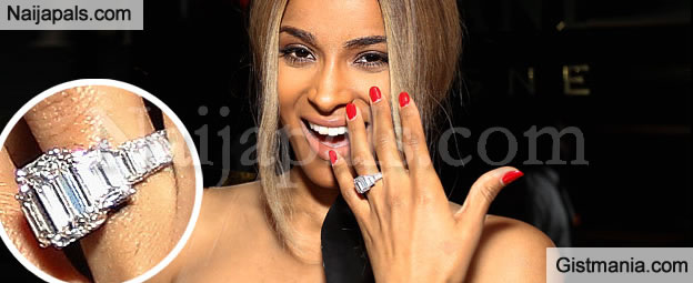 4ee8ae1c5fb44 Ciara Shows Off Her Massive Diamond Engagement Ring Worth $2 Million ...