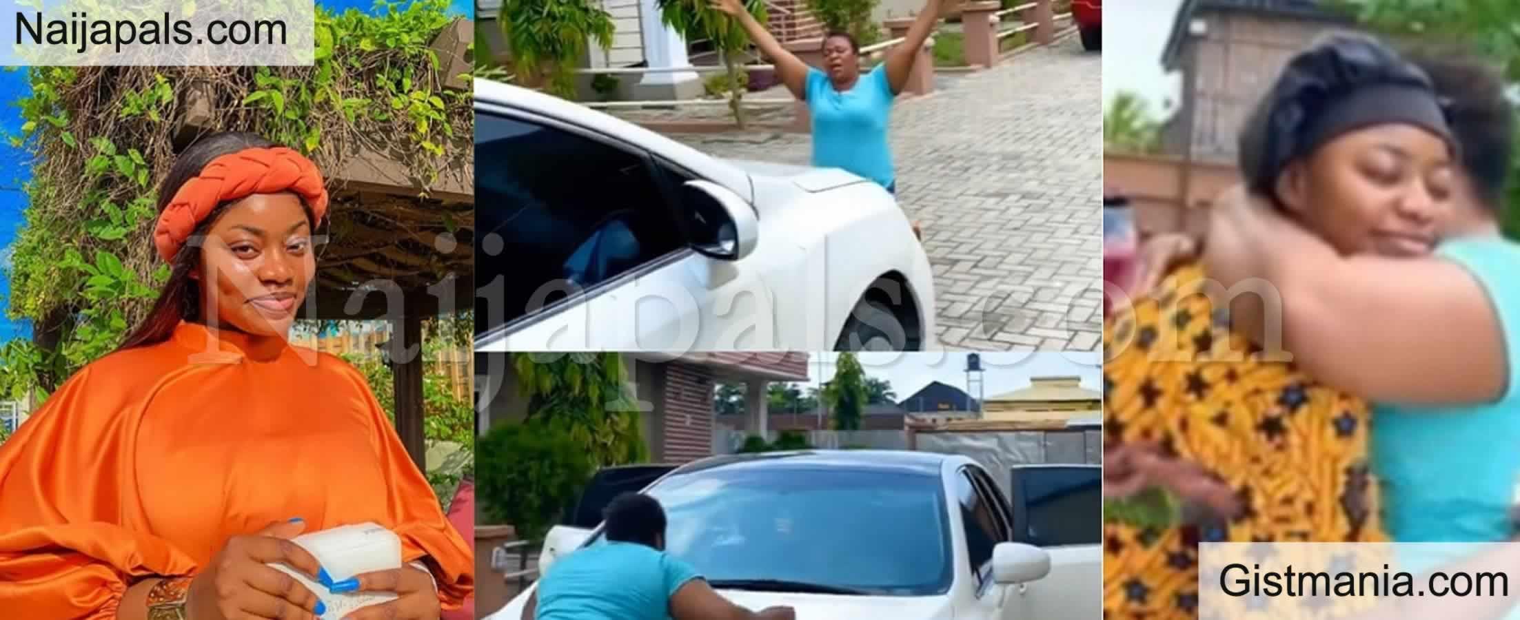 <img alt='.' class='lazyload' data-src='https://img.gistmania.com/emot/video.gif' /> <b>Emotional Moment Comedienne Amarachi Surprised Her Mum With a Brand New Toyota Venza</b> (VID)