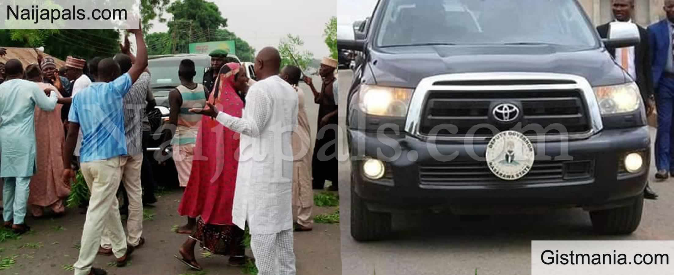 <img alt='.' class='lazyload' data-src='https://img.gistmania.com/emot/news.gif' /> <b>Angry Civil Servants Prevent Convoy Of Deputy Governor of Nasarawa State From Passing</b>