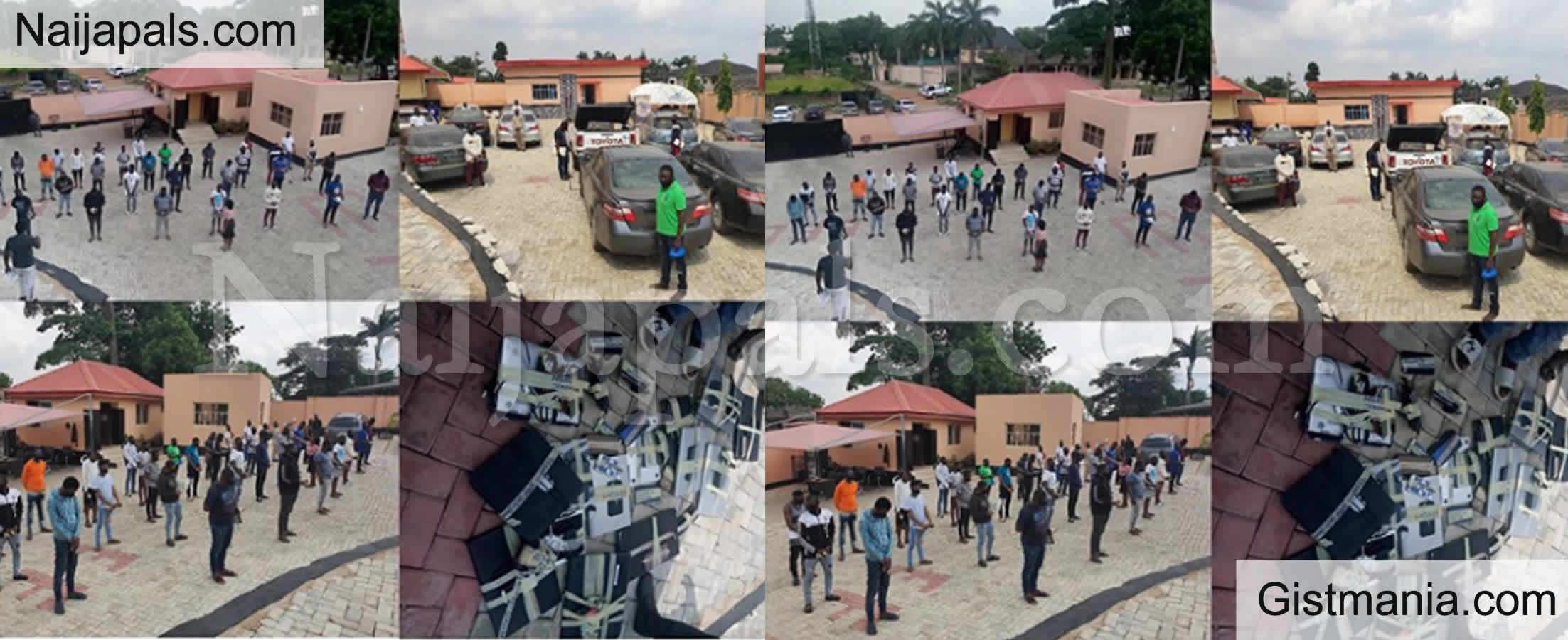 <img alt='.' class='lazyload' data-src='https://img.gistmania.com/emot/comment.gif' /> PHOTOS: <b>EFCC Apprehend 32 Persons, 3 Corps Members Over Alleged Internet Fraud In Oyo</b>
