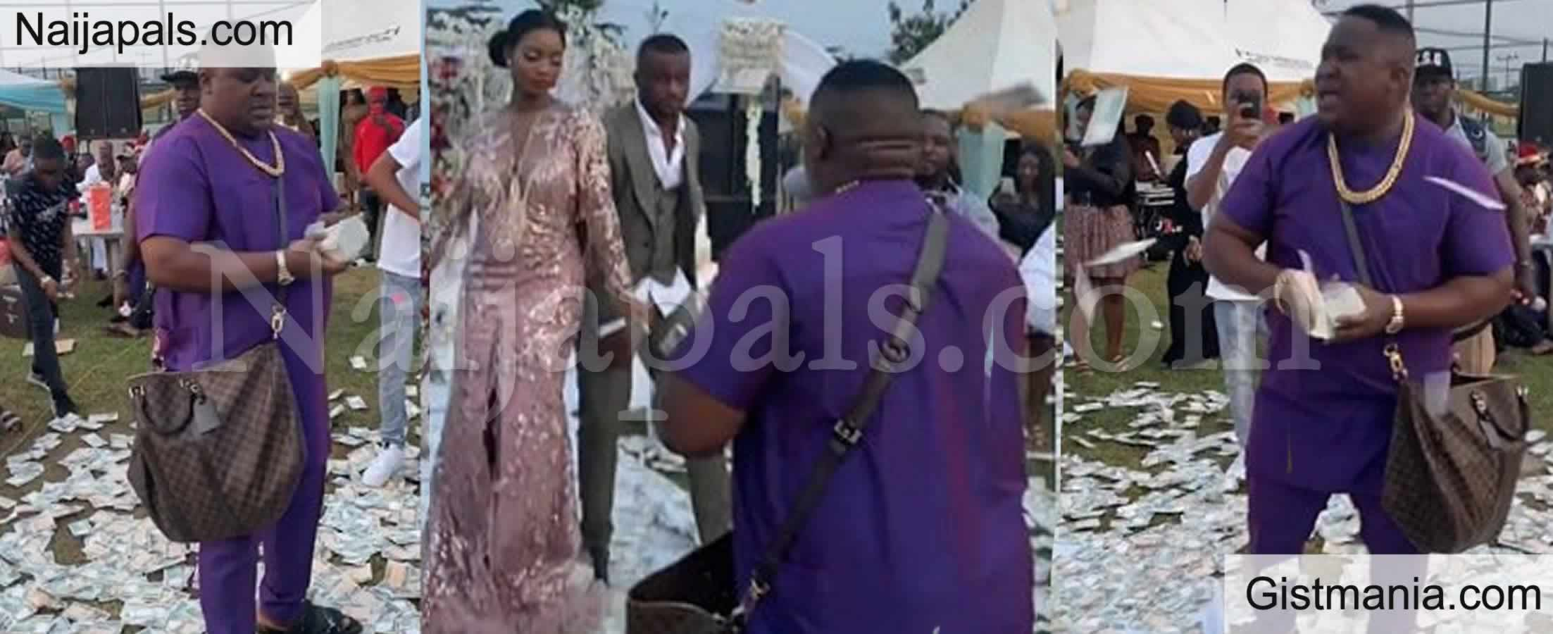 <img alt='.' class='lazyload' data-src='https://img.gistmania.com/emot/video.gif' /> VIDEO: <b>Cubana Chief Priest Steals The Show As He Makes Money Rain At A Wedding in Owerri</b>
