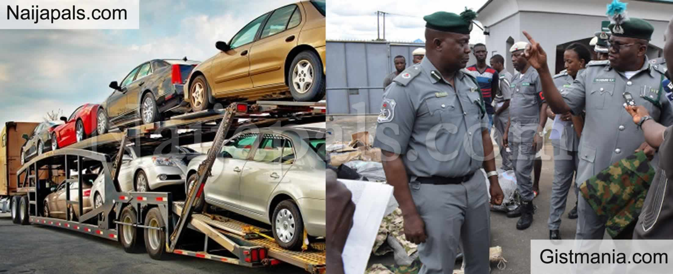 <img alt='.' class='lazyload' data-src='https://img.gistmania.com/emot/comment.gif' /> <b>Nigerian Customs Announces Slash in Cost of Import Duties on Vehicles</b>