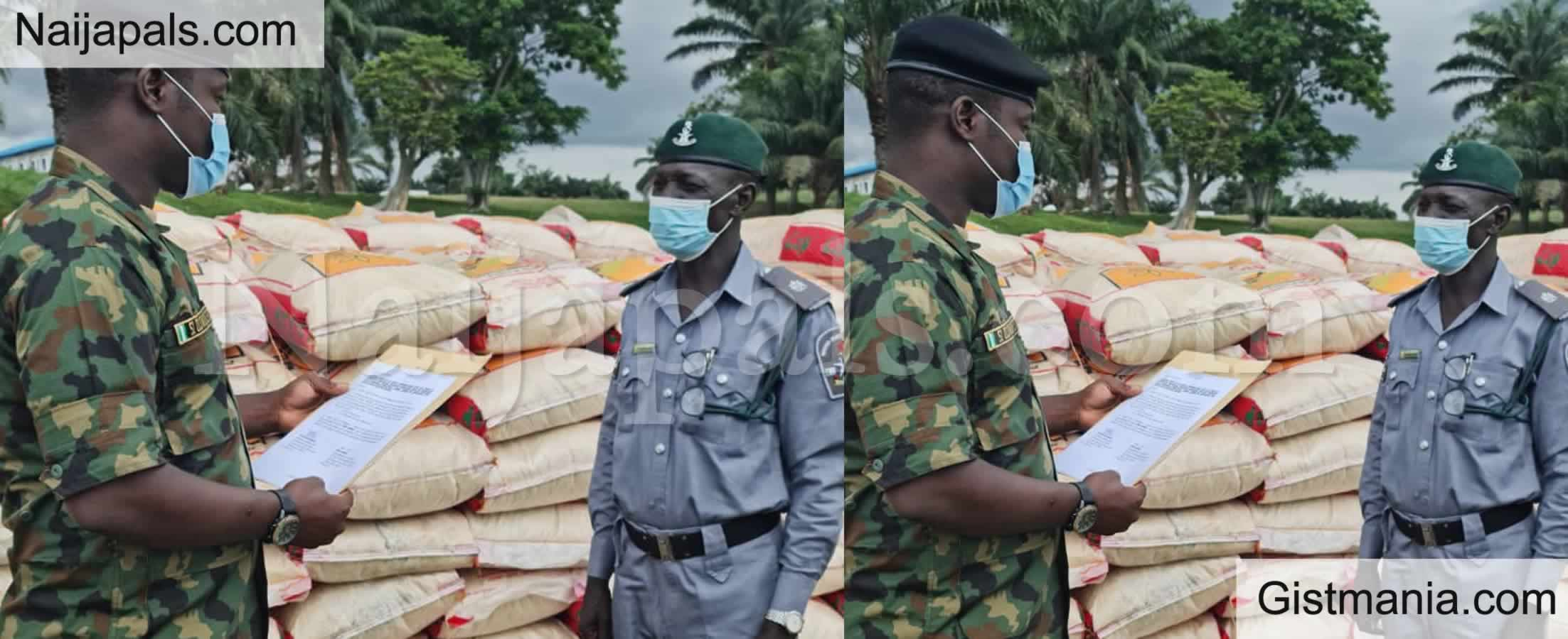 <img alt='.' class='lazyload' data-src='https://img.gistmania.com/emot/comment.gif' /> <b>Smugglers Take To Their Heels As Navy Impounds 251 Bags of Rice, Seize Boat in Akwa Ibom</b>