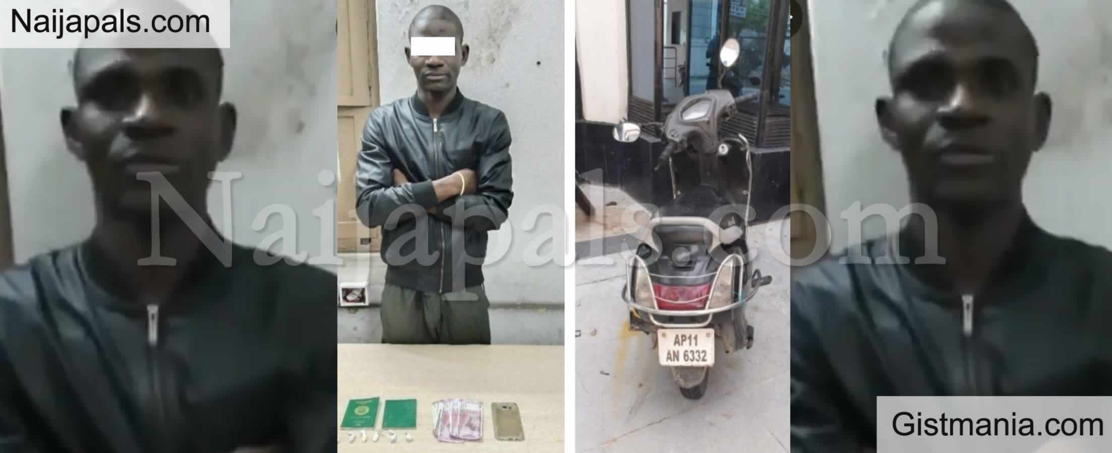 <img alt='.' class='lazyload' data-src='https://img.gistmania.com/emot/news.gif' /> <b>Nigerian Drug Peddler, Daniel Olamide Caught With 6 Grams of Cocaine in India</b>