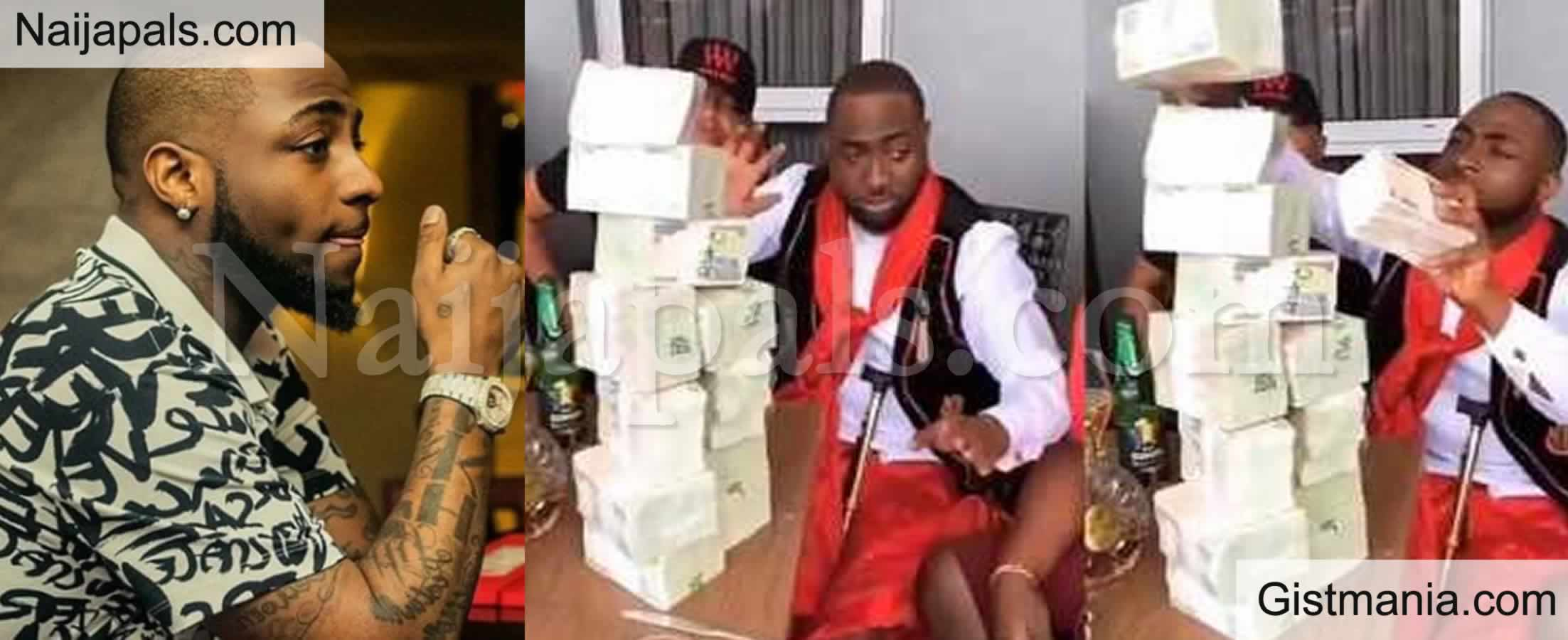 <img alt='.' class='lazyload' data-src='https://img.gistmania.com/emot/smh.gif' /> <b>This Country Nawa, I Almost Cried After Changing Dollars to Naira </b>- Davido Reveals