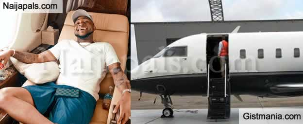 FINALLY! Davido Admits Private Jet Belongs To His Dad After