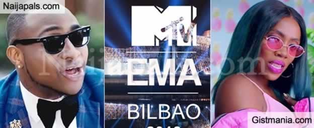 Davido And Tiwa Savage Make Best African Act At 2018 MTV