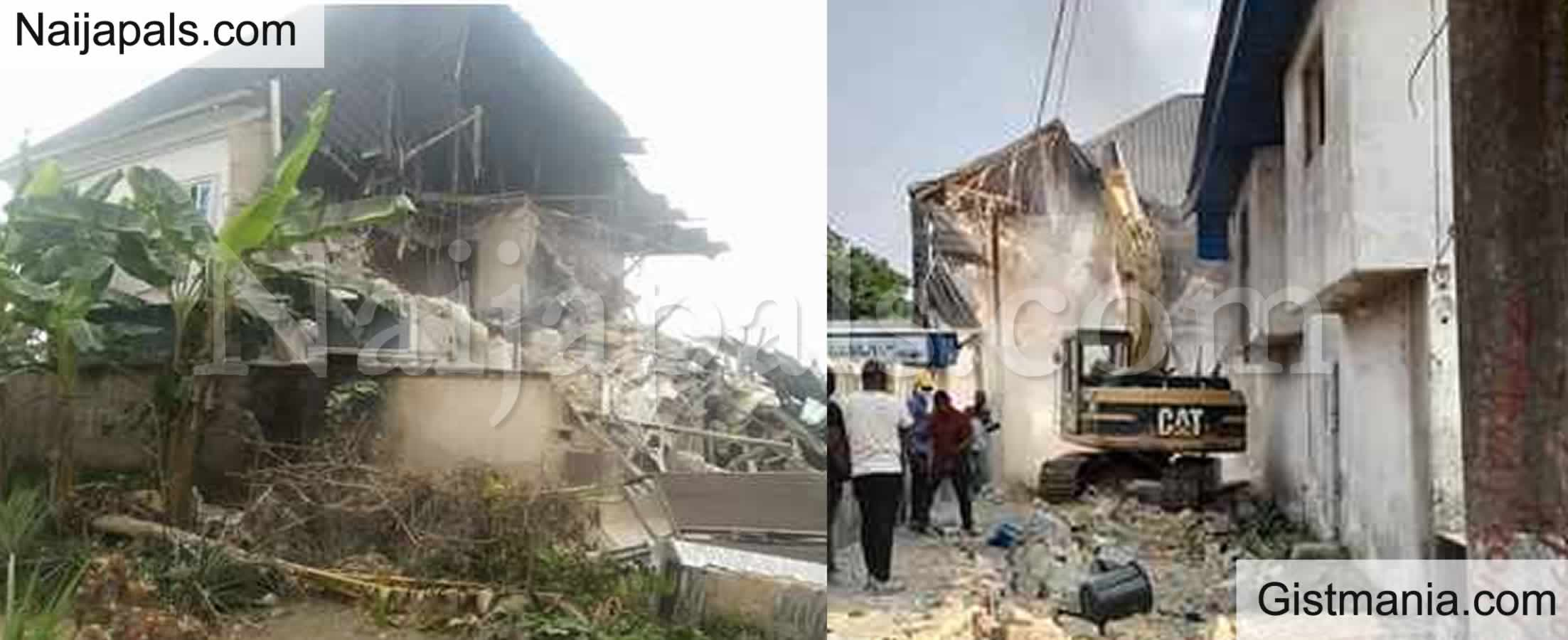 <img alt='.' class='lazyload' data-src='https://img.gistmania.com/emot/comment.gif' /> PHOTOS: <b>Houses & Brothel Owned By Suspected Kidnapper Demolished By Cross Rivers Govt</b>