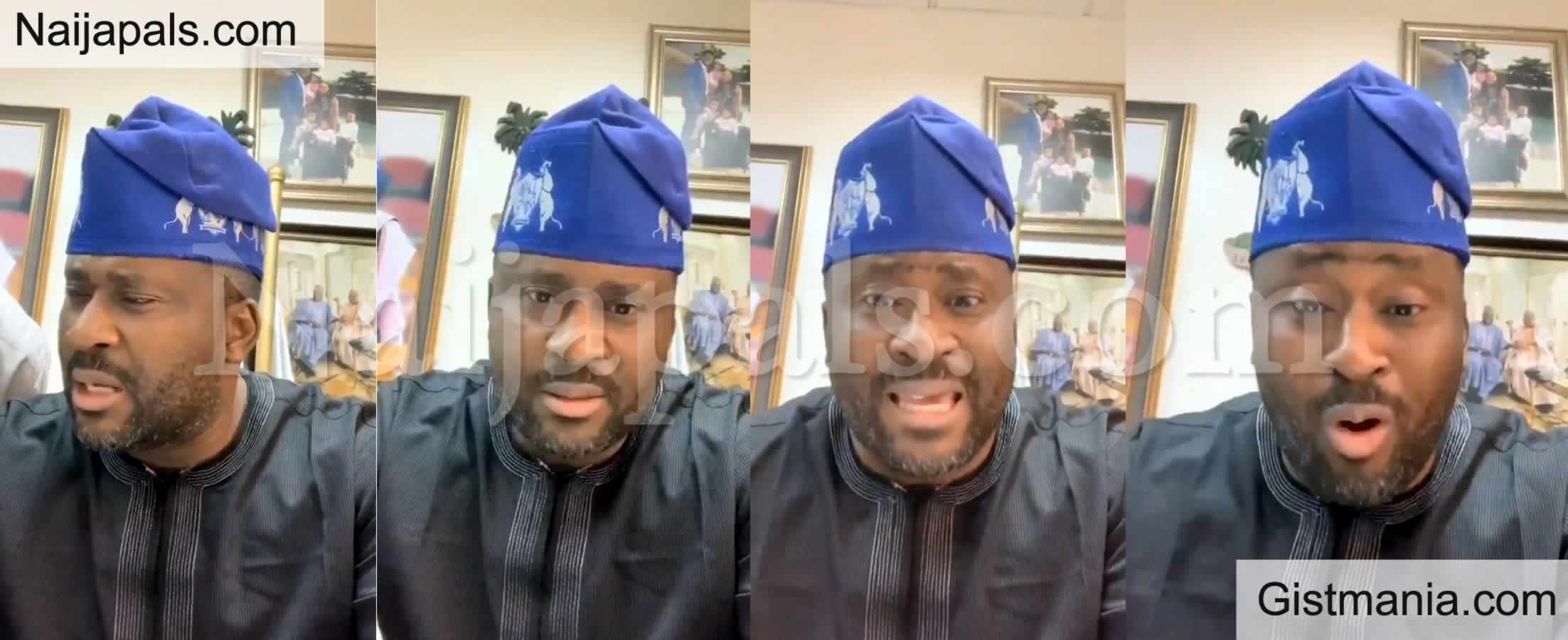<img alt='.' class='lazyload' data-src='https://img.gistmania.com/emot/video.gif' /> Video: <b>Desmond Elliot Tells Protesting Youths To Get Into Government, If They Are Tired</b>