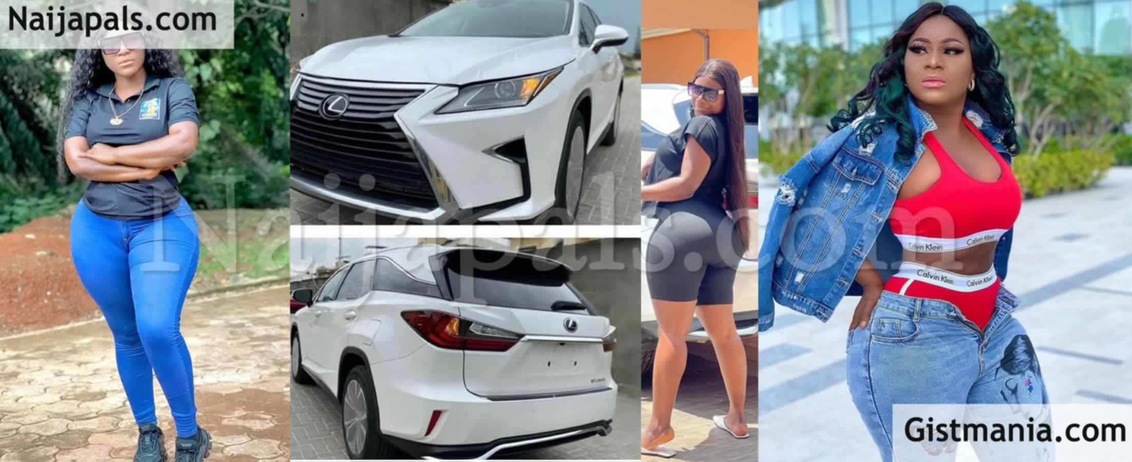 <img alt='.' class='lazyload' data-src='https://img.gistmania.com/emot/shocked.gif' /><img alt='.' class='lazyload' data-src='https://img.gistmania.com/emot/photo.png' /> <b>Actress, Destiny Etiko Acquires Brand New Lexus SUV Months After Buying A Toyota Prado</b> (Photos)
