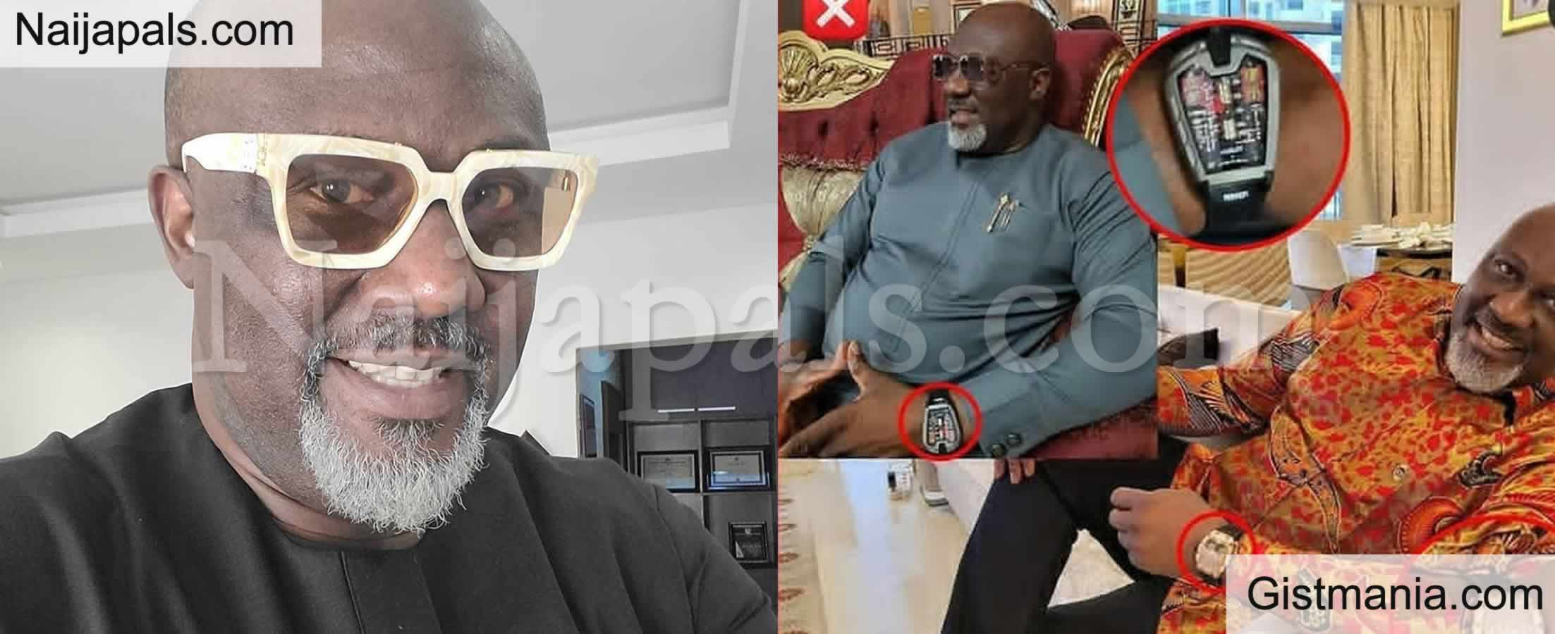<img alt='.' class='lazyload' data-src='https://img.gistmania.com/emot/photo.png' /> Photo: <b>Dino Melaye Dragged For Flaunting Fake Hublot Wristwatch</b>