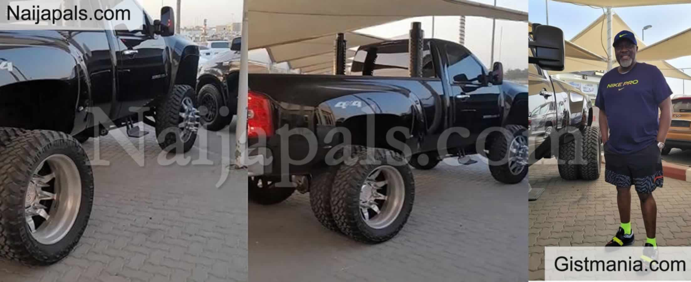 <img alt='.' class='lazyload' data-src='https://img.gistmania.com/emot/thumbs_up.gif' /> Photos Of Senator <b>Dino Melaye Flaunting His Newly Acquired Luxury Truck On Social Media</b>