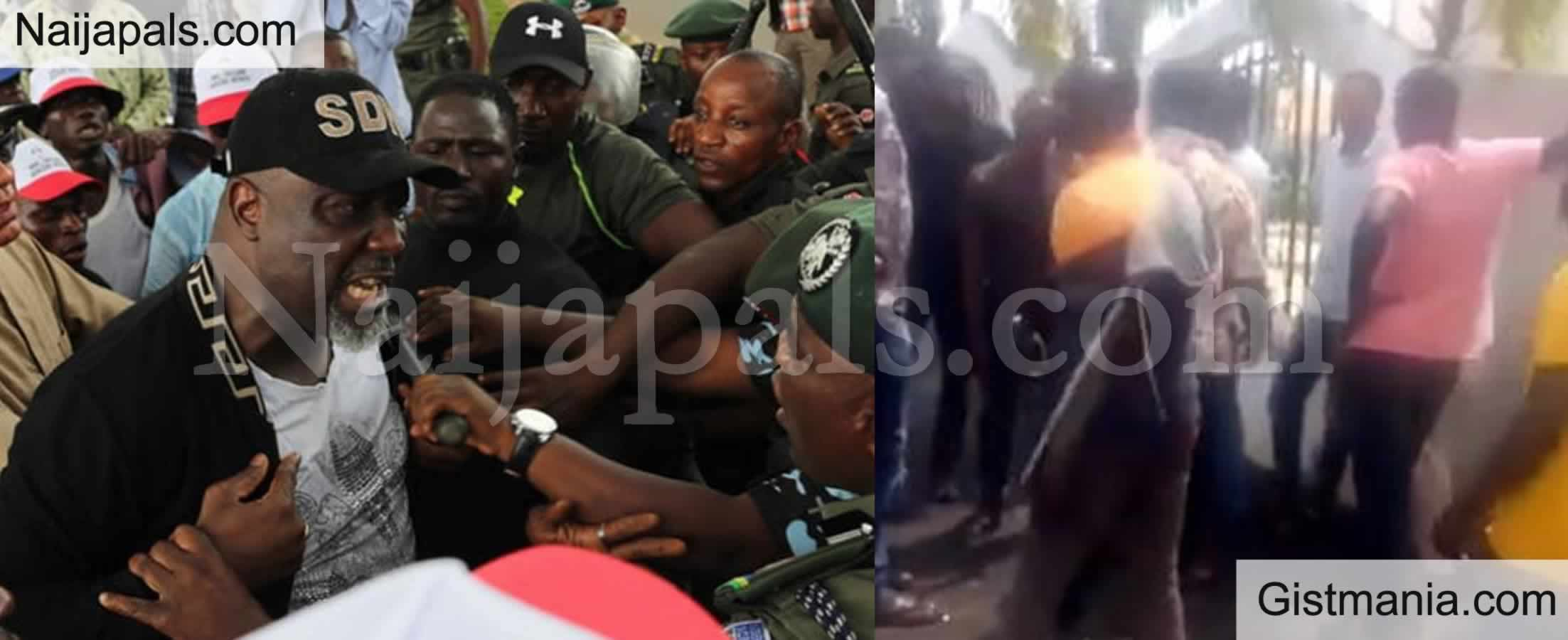 <img alt='.' class='lazyload' data-src='https://img.gistmania.com/emot/video.gif' /> VIDEO: <b>Moment Youths Fought Back Thugs Who Came To Destroy Dino Melaye's Mansion in Kogi</b>