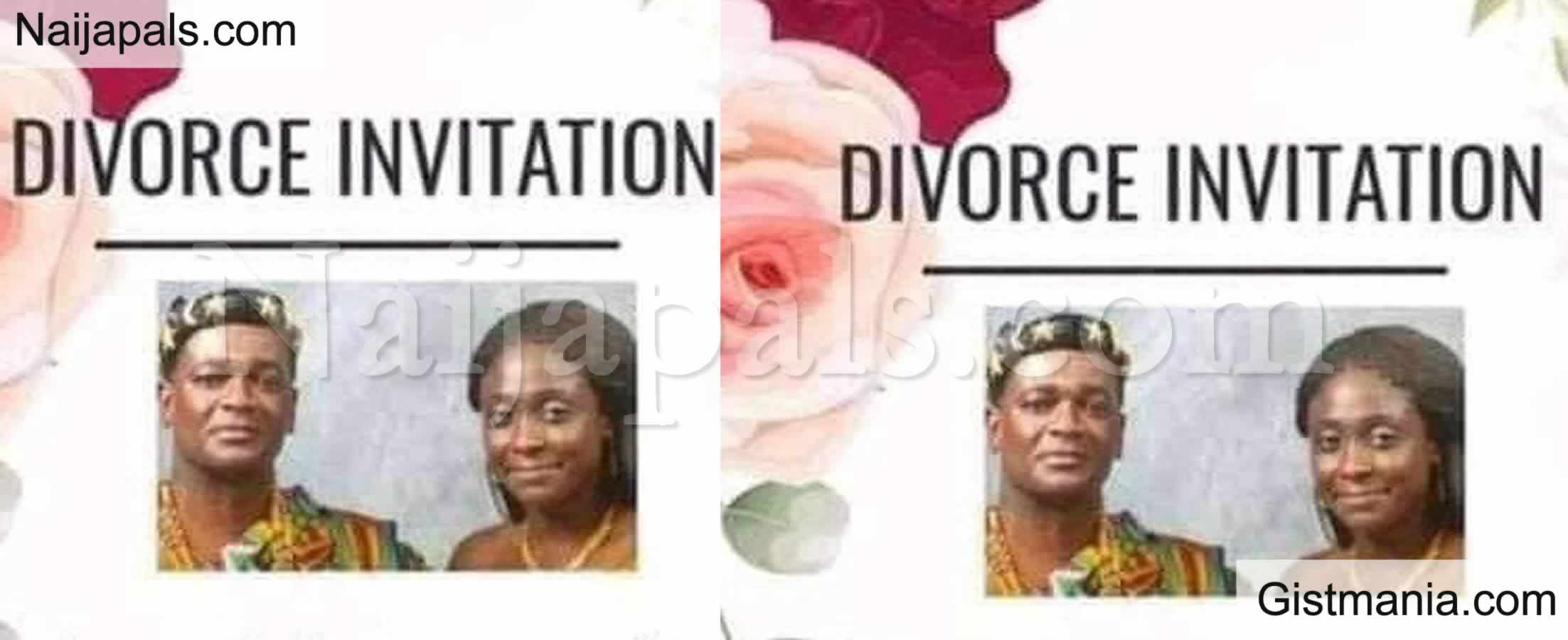 <img alt='.' class='lazyload' data-src='https://img.gistmania.com/emot/broken_heart.gif' /> <b>Ghanaian Couple Send Out Divorce Invitation Asking Their Friends To Join Them</b>