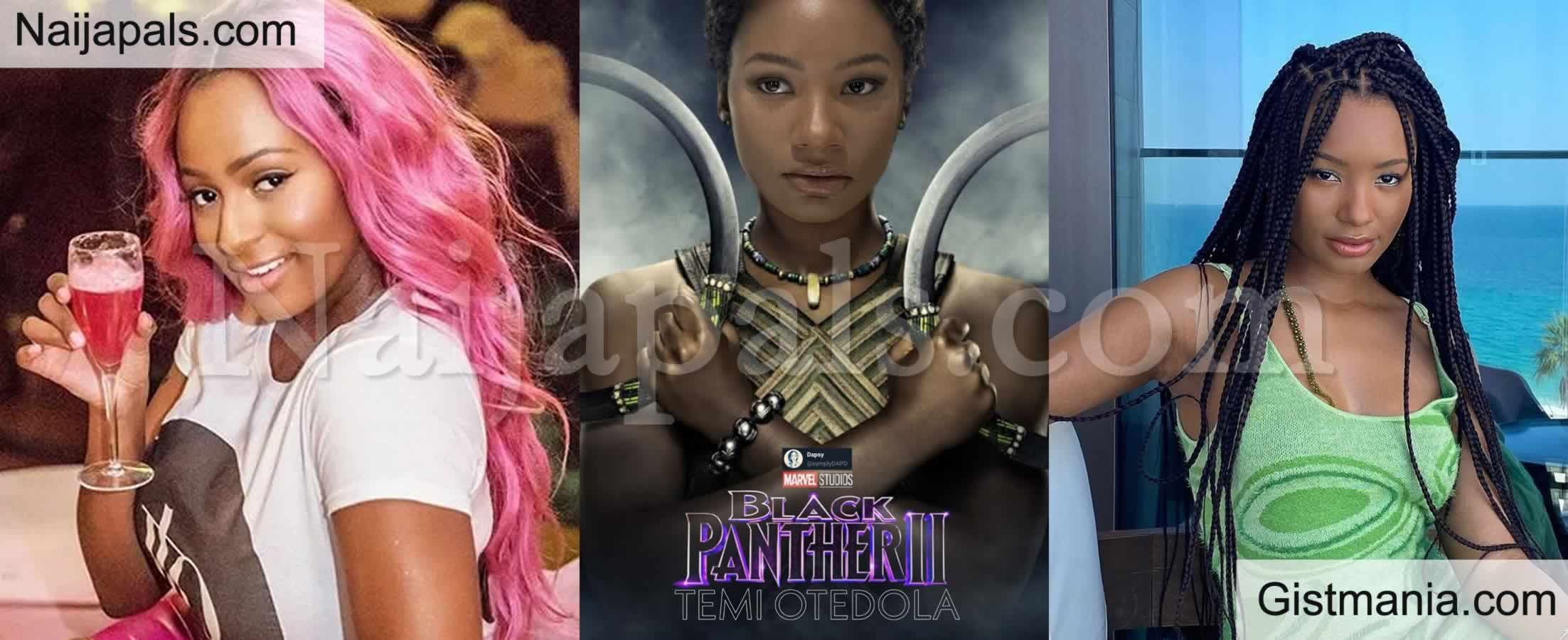 <img alt='.' class='lazyload' data-src='https://img.gistmania.com/emot/comment.gif' /> <b>DJ Cuppy is Pulling Some Strings For Her Sister, Temi to Feature in Marvel's 'Black Panther 2</b>'