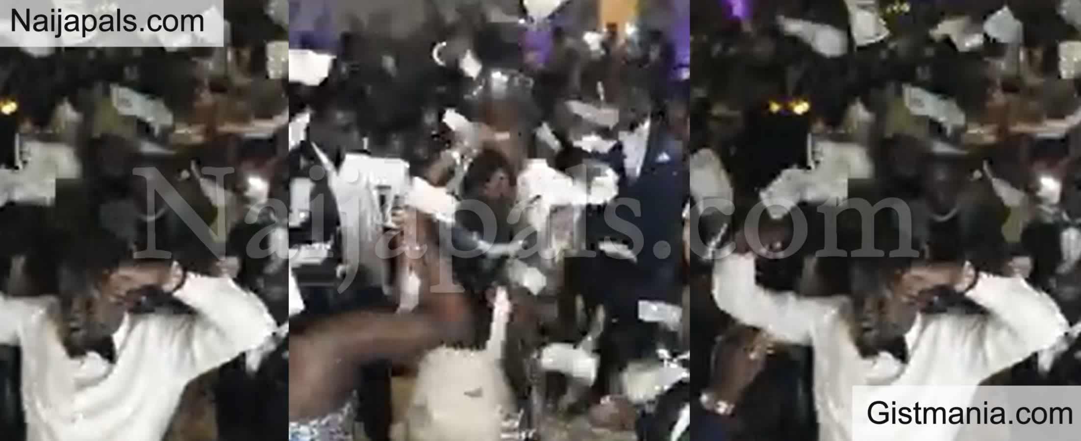 <img alt='.' class='lazyload' data-src='https://img.gistmania.com/emot/video.gif' /> Video: <b>This One Pass Obi Cubana - See Reactions As Dollar Rains At Couple's Wedding Reception</b>