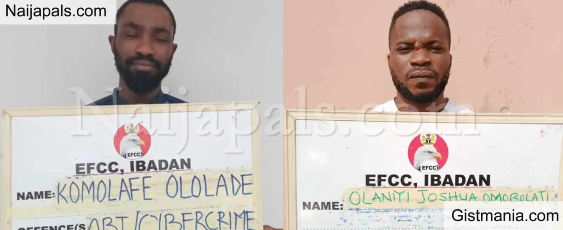 <img alt='.' class='lazyload' data-src='https://img.gistmania.com/emot/comment.gif' /> <b>Photos Of 2 Suspected Fraudsters, Komolafe & Olaniyi Arrested By EFCC In Ogun</b>