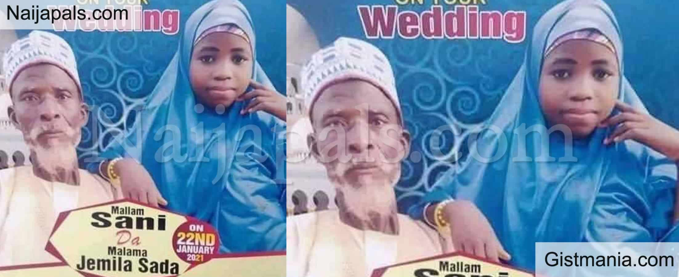 "<img alt='.' class='lazyload' data-src='https://img.gistmania.com/emot/comment.gif' /> <b>""This Is Child Abuse""</b> - Nigerians React As Elderly Grandfather Marries Little Girl In Northern Nigeria"