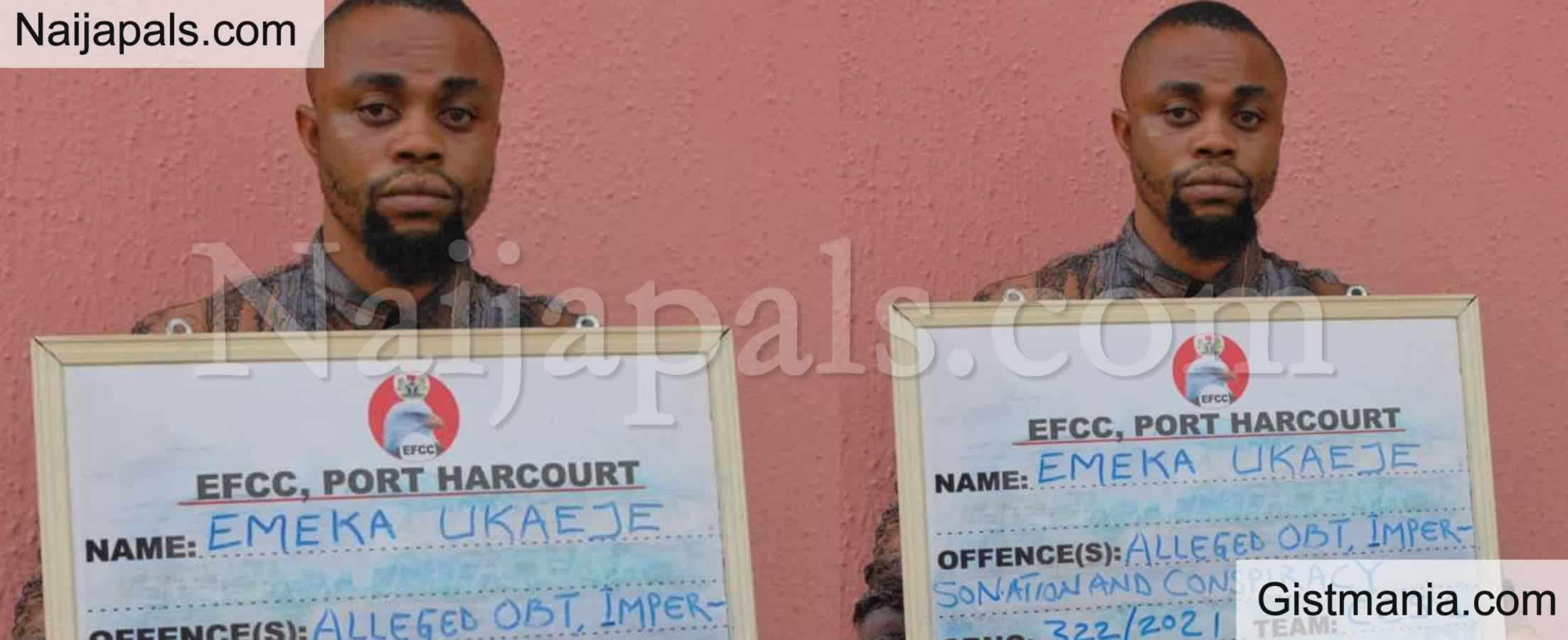 <img alt='.' class='lazyload' data-src='https://img.gistmania.com/emot/news.gif' /> <b>Leader of Human Organs Traffickers, Emeka John Ukaeje Arrested by EFCC in Port Harcourt</b>