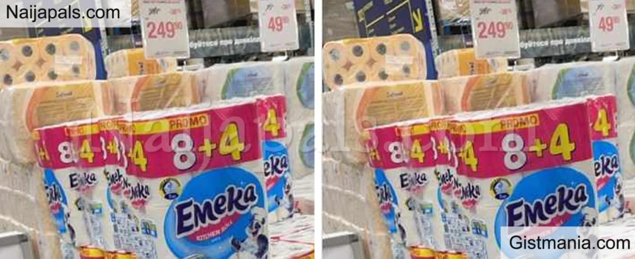 <img alt='.' class='lazyload' data-src='https://img.gistmania.com/emot/laugh.gif' /> LMAO! <b>Nigerians React As Emeka Tissue Paper Is Spotted In A Mall In Russia</b> (PHOTO)