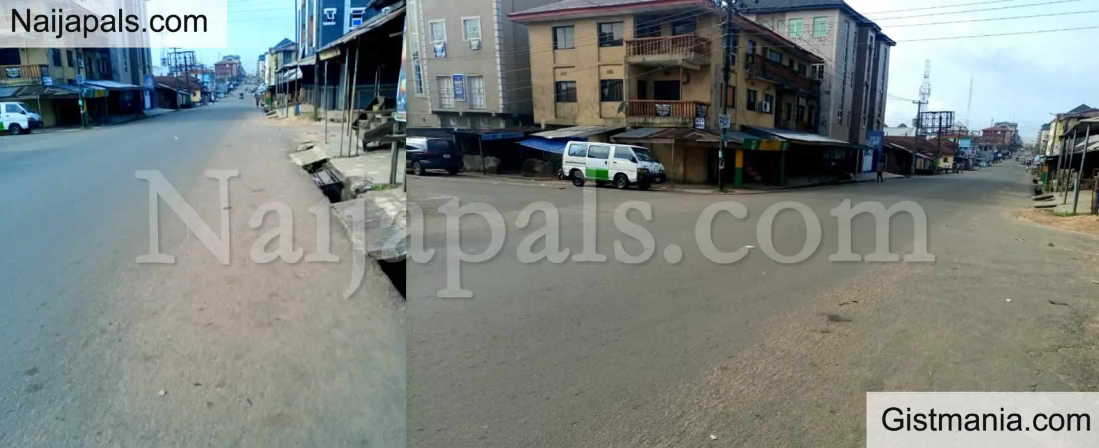 <img alt='.' class='lazyload' data-src='https://img.gistmania.com/emot/comment.gif' /> <b>Empty Streets In Umuahia As Residents Observe Sit-At-Home Order Over Nnamdi Kanu Trial Today</b>