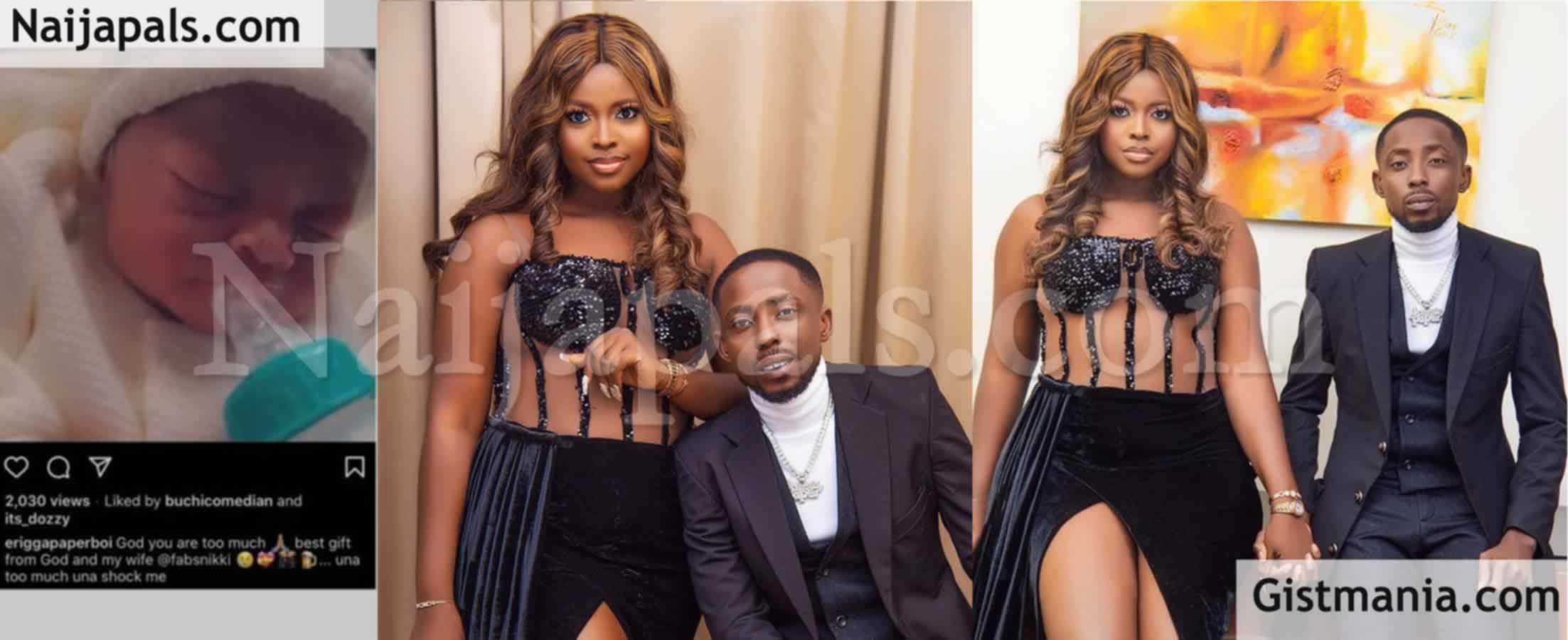 <img alt='.' class='lazyload' data-src='https://img.gistmania.com/emot/photo.png' /> <b>Nigerian Rapper, Erigga & His Beautiful Wife Welcome A Baby Boy</b> (Photo)