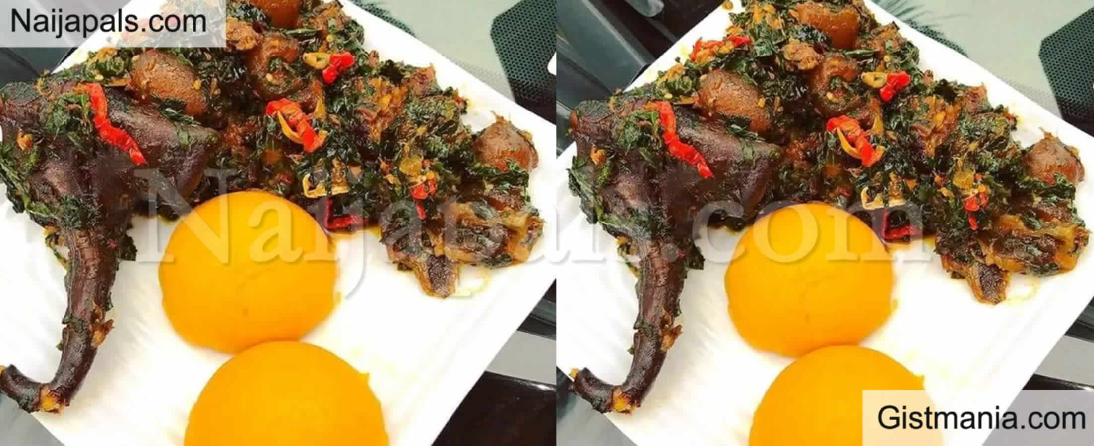 <img alt='.' class='lazyload' data-src='https://img.gistmania.com/emot/grin.gif' /> <b>Read Hilarious Reactions To Photo Of Eba And Soup That Cost N44k Per Plate</b>