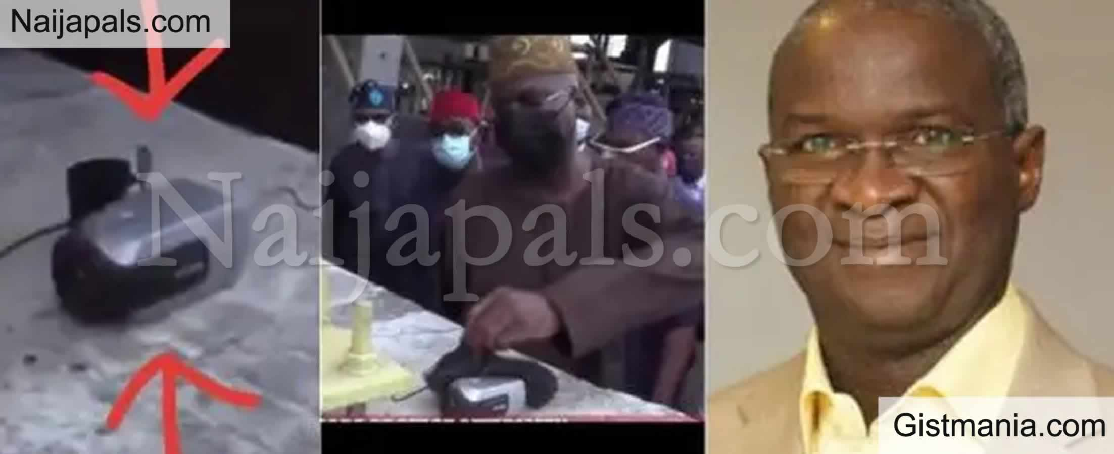 <img alt='.' class='lazyload' data-src='https://img.gistmania.com/emot/video.gif' /> #EndSARS: <b>Minister Of Works, Fashola Finds Mystery Camera At Lekki Toll Gate</b> (Video)