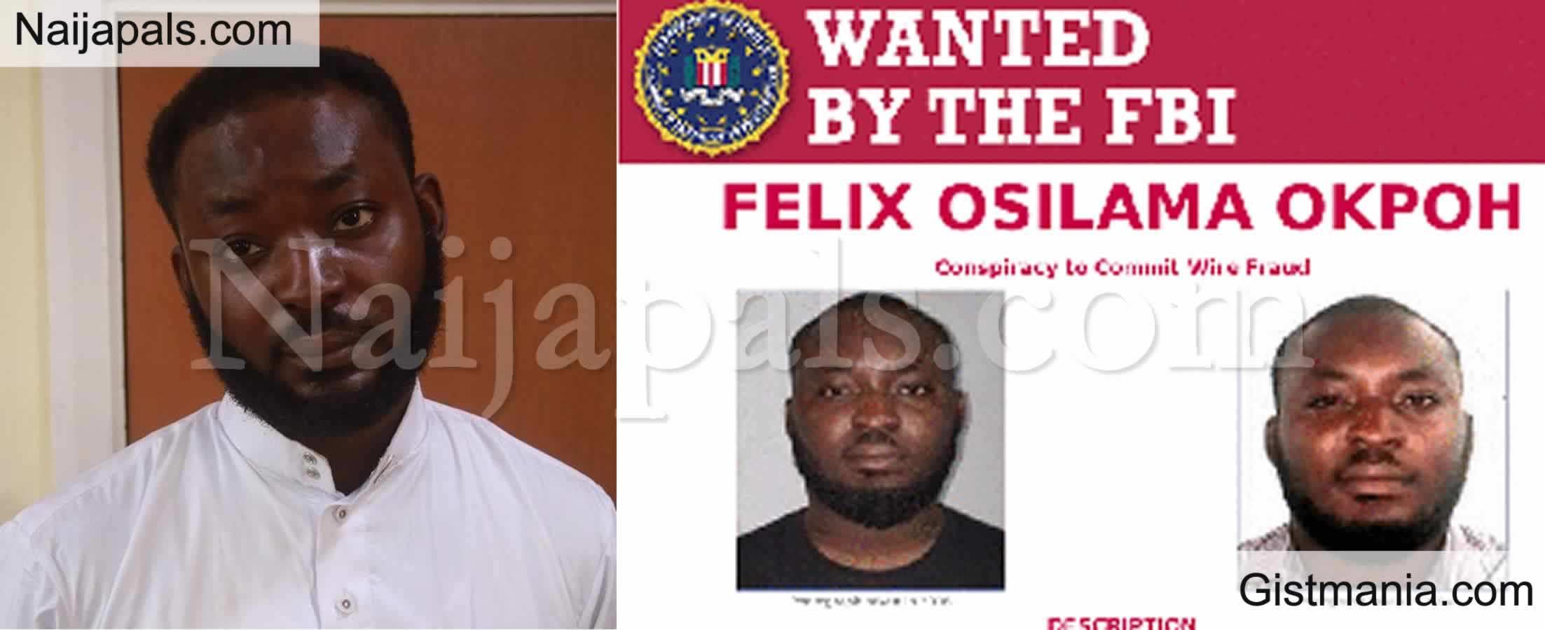 <img alt='.' class='lazyload' data-src='https://img.gistmania.com/emot/comment.gif' /> PHOTO: Nigerian Man, <b>Felix Okpoh Wanted By FBI For Over $6m Internet Fraud, Surrenders to EFCC</b>