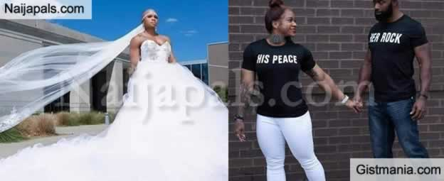 Photos Viral Photos Of A Female Bodybuilder And Her Husband Getting Married Gistmania