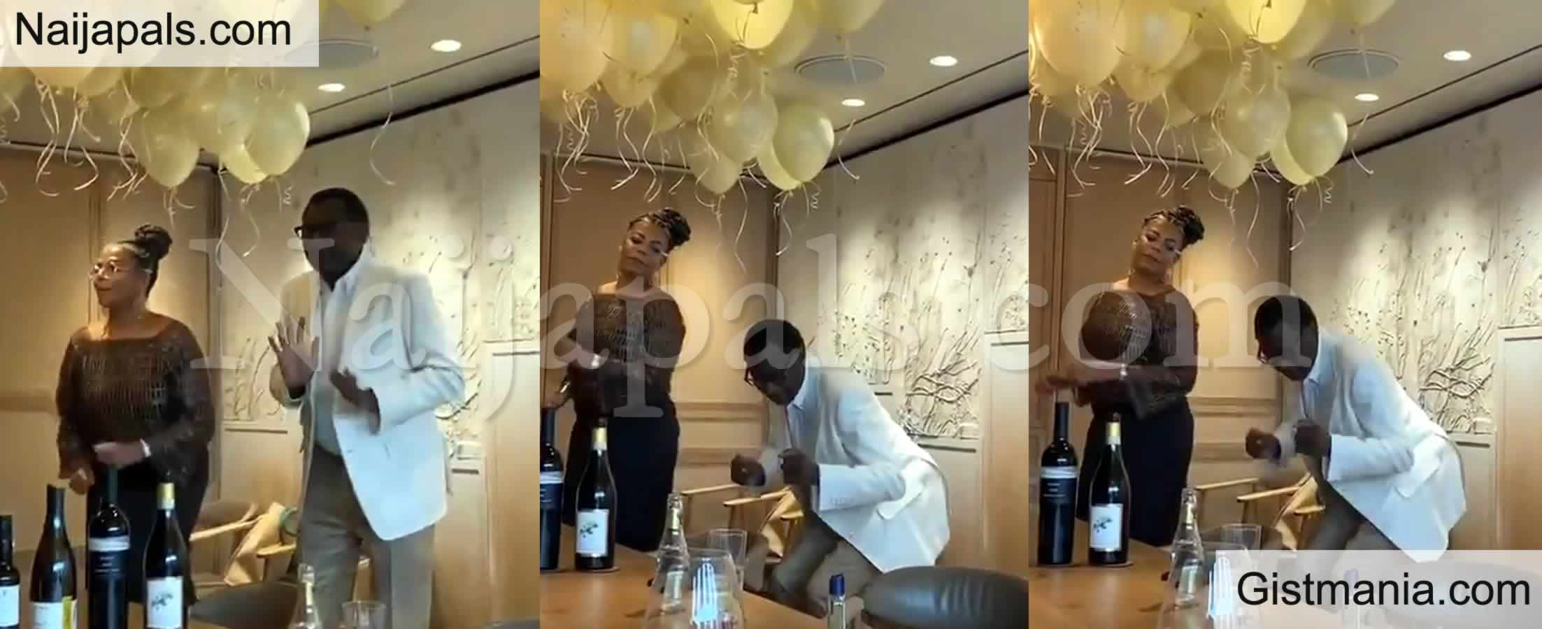 <img alt='.' class='lazyload' data-src='https://img.gistmania.com/emot/photo.png' /> VIDEO: Billionaire, <b>Femi Otedola Dances With Wife As He Celebrates Her Birthday</b>