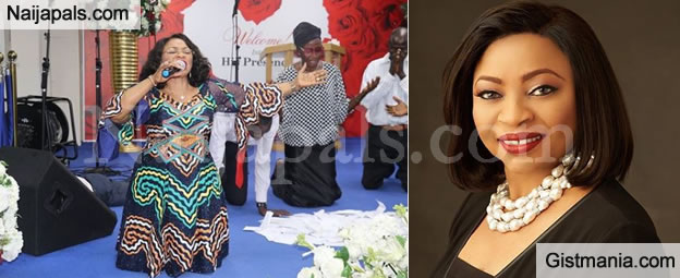 Nigeria S Richest Woman Folorunsho Alakija Takes Over Praise And Worship In Church Photos Gistmania