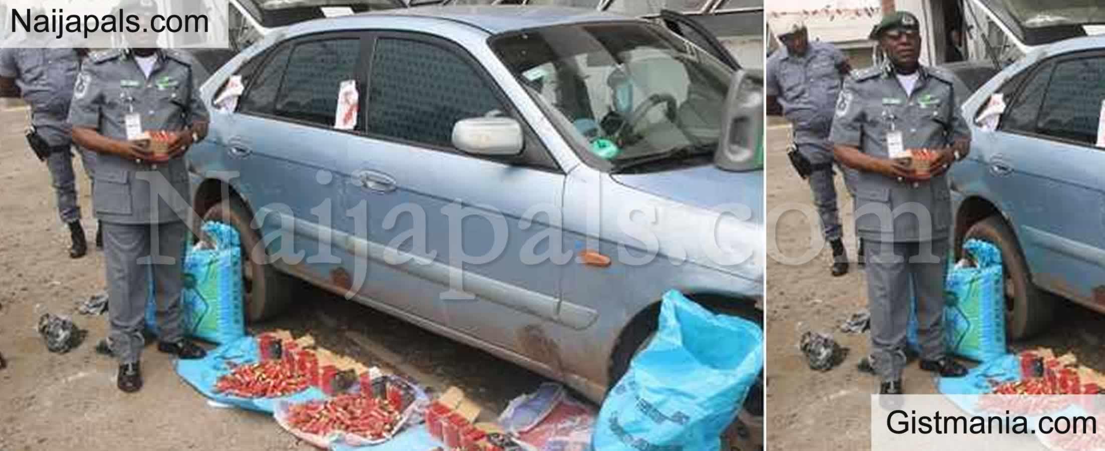 <img alt='.' class='lazyload' data-src='https://img.gistmania.com/emot/news.gif' /> <b>Nigerian Customs Intercepts Loads of Live Cartridges Concealed In Sacks Of Garri</b> (Photos)