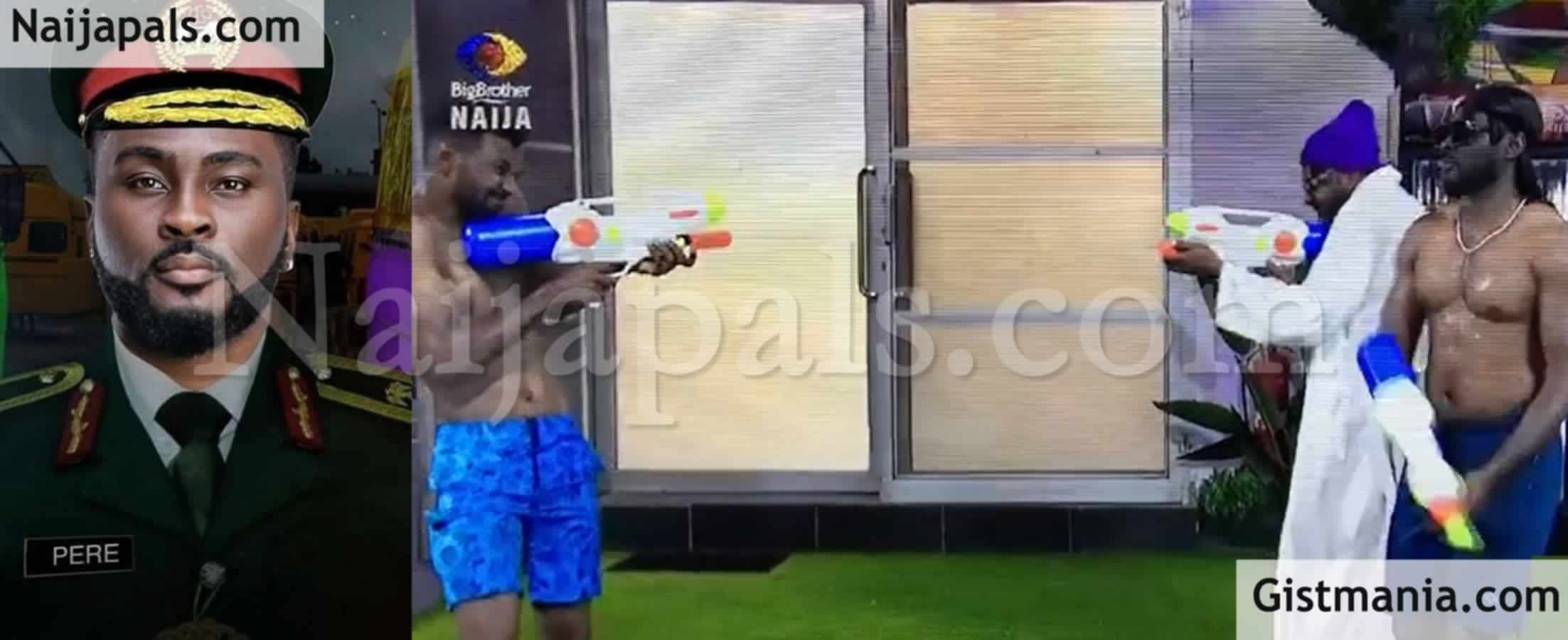 <img alt='.' class='lazyload' data-src='https://img.gistmania.com/emot/comment.gif' /><img alt='.' class='lazyload' data-src='https://img.gistmania.com/emot/video.gif' /> #BBNAIJA! <b>Fans React After Ex-Military Housemate, Pere Missed Military Action Of Shooting During Game</b> (Video)