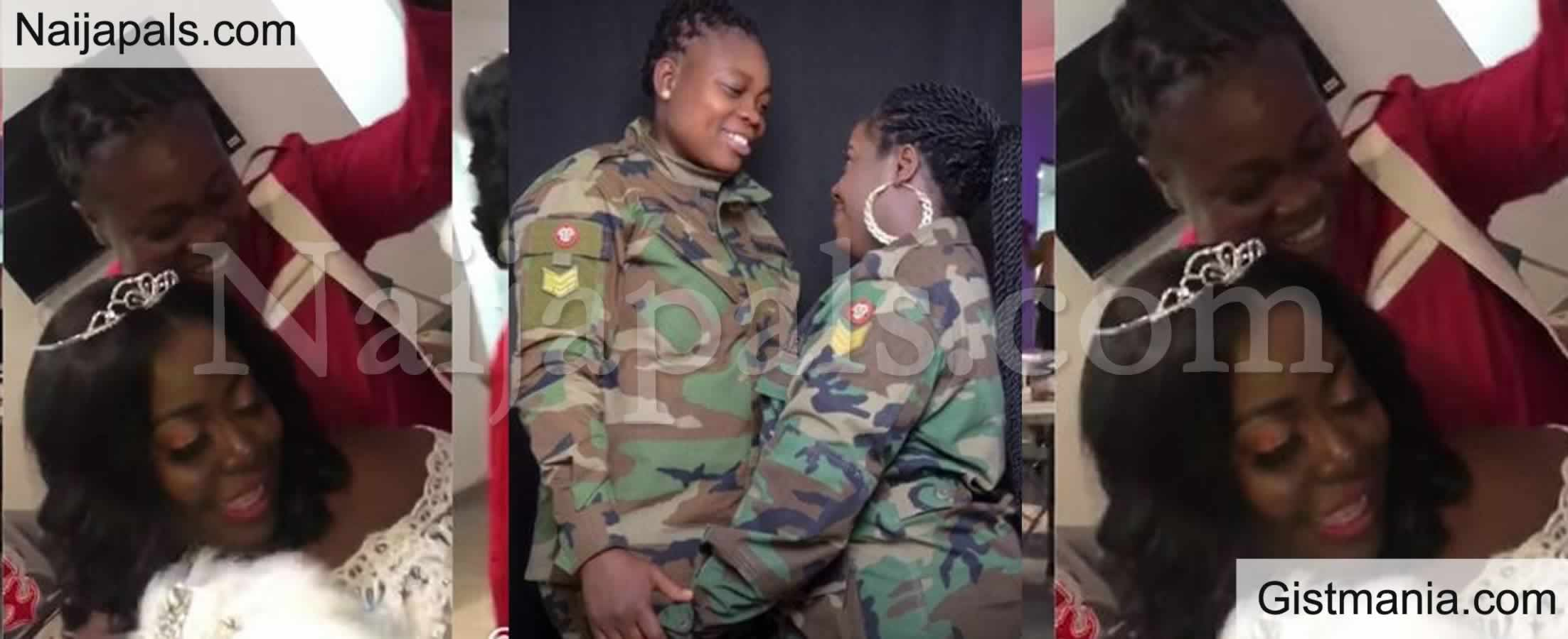 <img alt='.' class='lazyload' data-src='https://img.gistmania.com/emot/video.gif' /> <b>Trouble For Military Lesbian Who Got Married in Ghana After Their Wedding Video Went Viral</b>