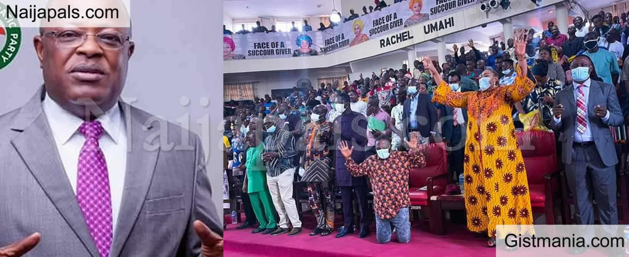 <img alt='.' class='lazyload' data-src='https://img.gistmania.com/emot/comment.gif' /> PHOTOS: <b>Over 2000 Pastor Storm Ebonyi State to Pray For Gov Umahi Over Insecurity</b>