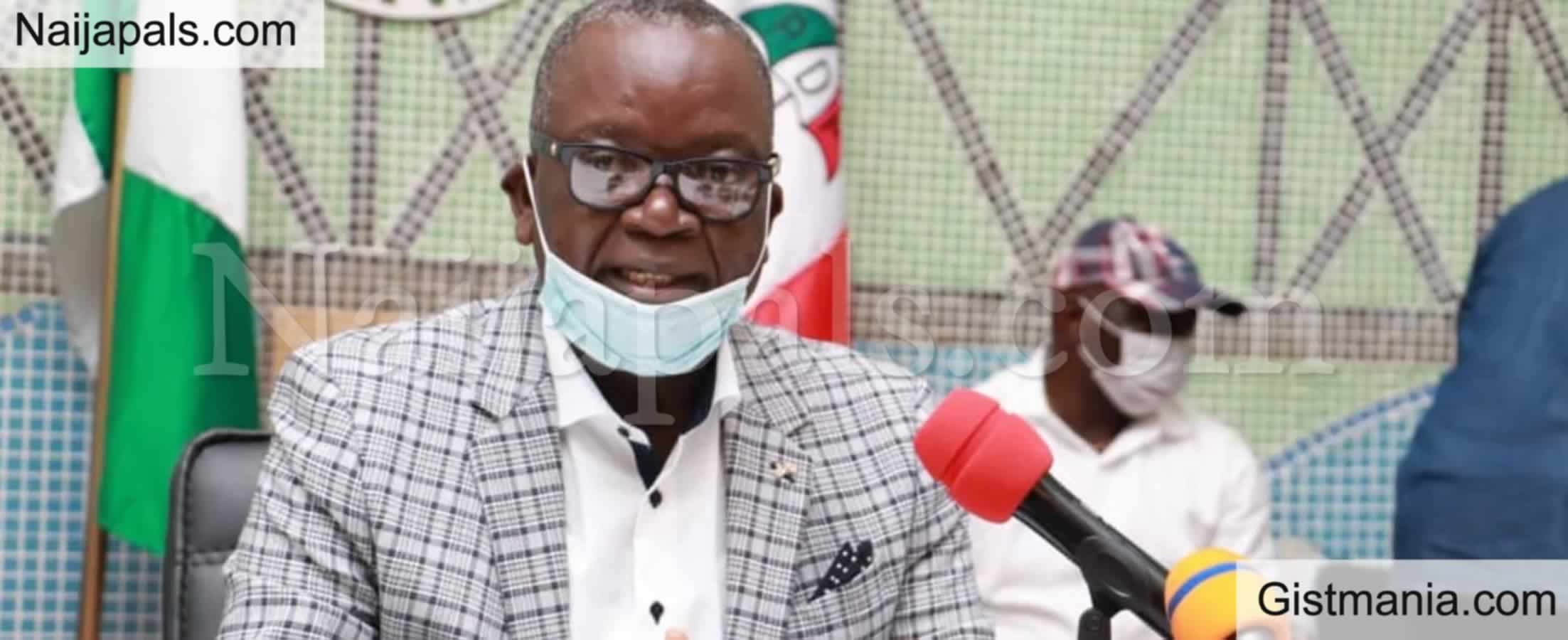 <img alt='.' class='lazyload' data-src='https://img.gistmania.com/emot/news.gif' /> Just In:<b> Governor Of Benue Samuel Ortom, Test Positive For Covid 19</b>