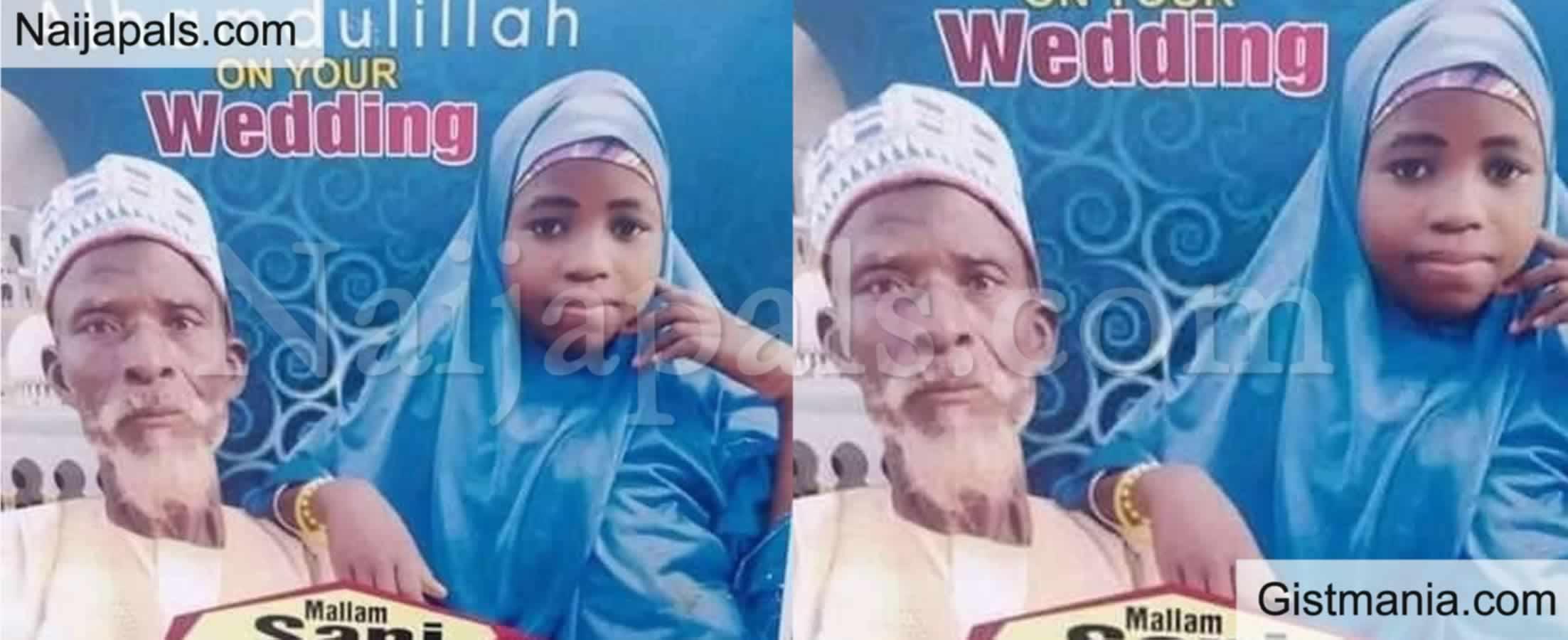 <img alt='.' class='lazyload' data-src='https://img.gistmania.com/emot/shocked.gif' /> Nigerians Express Shock As<b> Elderly Grandfather Weds Teenage Girl In Northern Nigeria</b> (PHOTO)