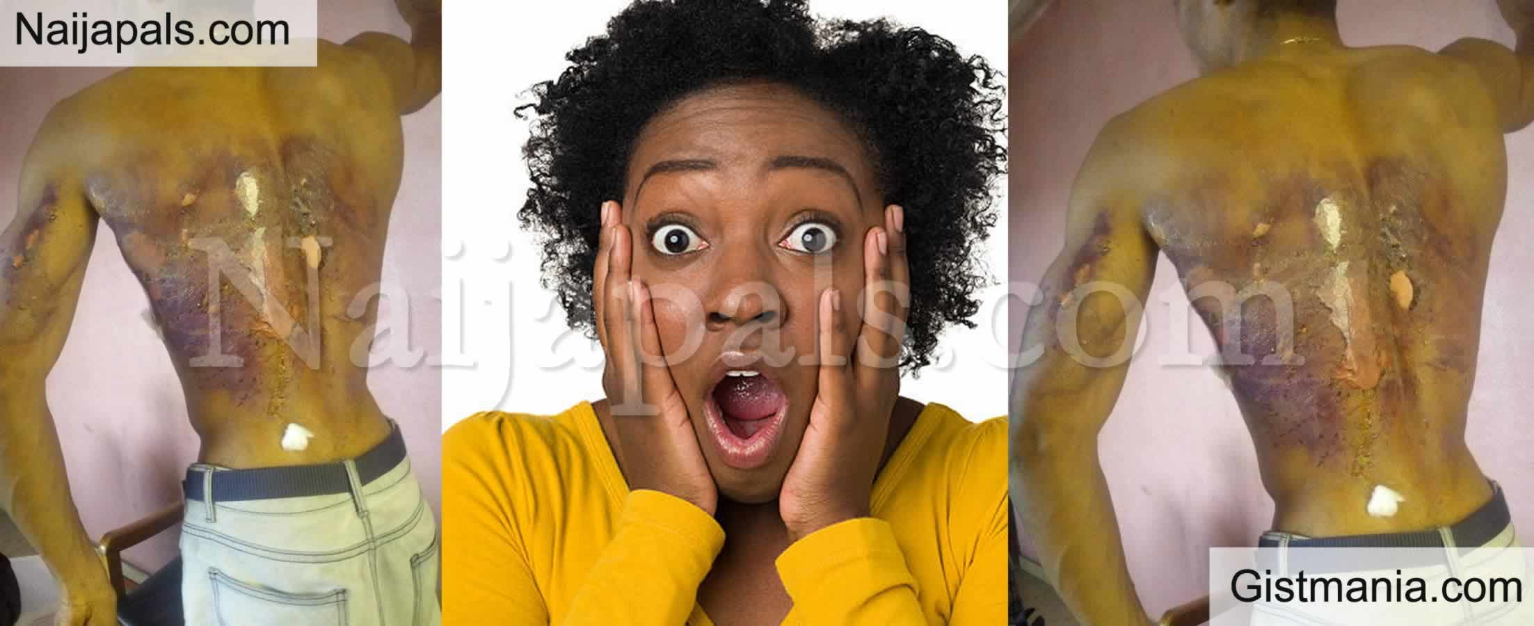 <img alt='.' class='lazyload' data-src='https://img.gistmania.com/emot/shocked.gif' /> <b>Nigerian Lady Pours Hot Water on Brother After He Scolded Her For Dating a Married Man</b>