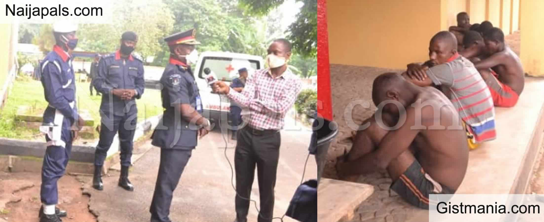<img alt='.' class='lazyload' data-src='https://img.gistmania.com/emot/news.gif' /> PHOTOS: <b>Police Parade Suspected Motorcycle Thieves in Ibadan</b>