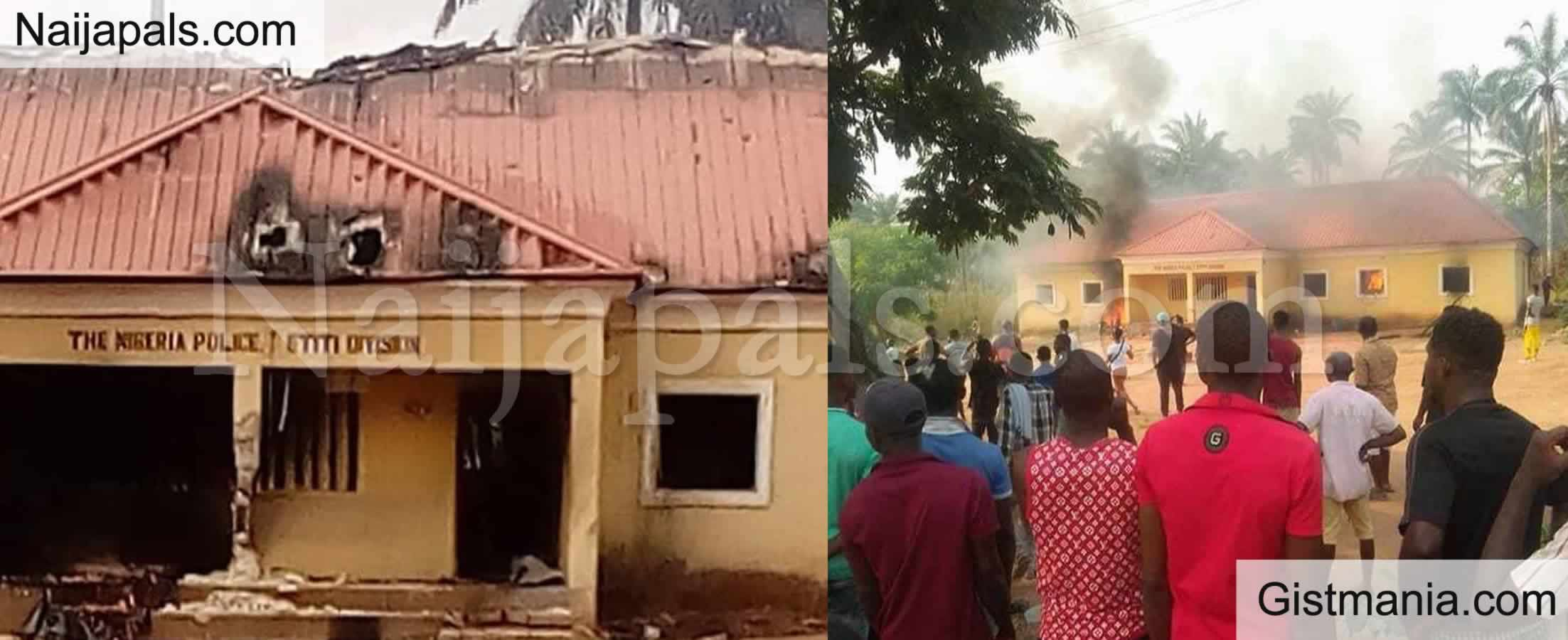<img alt='.' class='lazyload' data-src='https://img.gistmania.com/emot/fire.gif' /> BREAKING: <b>Police Headquarters In Anambra Attacked By Unknown Gunmen</b>