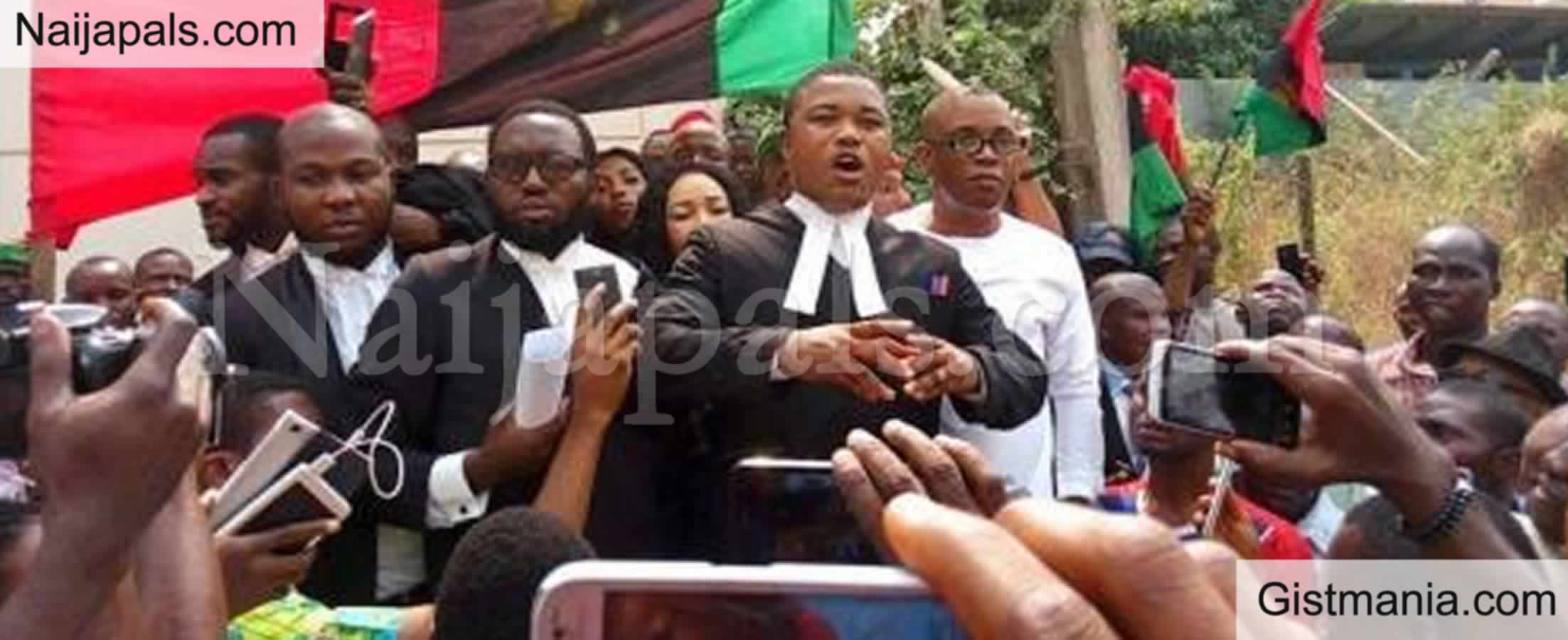 <img alt='.' class='lazyload' data-src='https://img.gistmania.com/emot/news.gif' /> <b>Arrested IPOB Leader, Nnamdi Kanu's Lawyer, Ifeanyi Ejiofor Reveals He Is Set To Be Released</b>