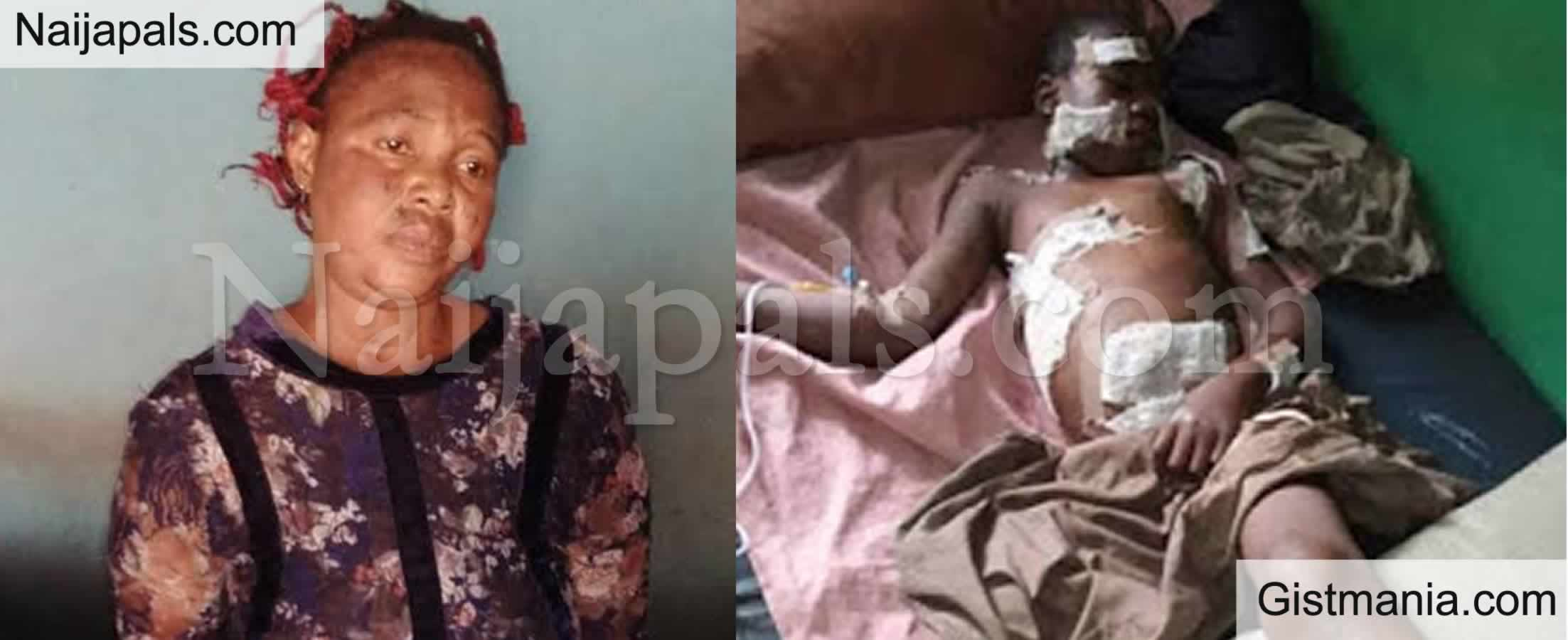 <img alt='.' class='lazyload' data-src='https://img.gistmania.com/emot/smh.gif' /> <b>Woman, Iswat Taofeek Arrested For Brutalizing 12yr Old Boy With Hot Knife Over Missing N5k</b>