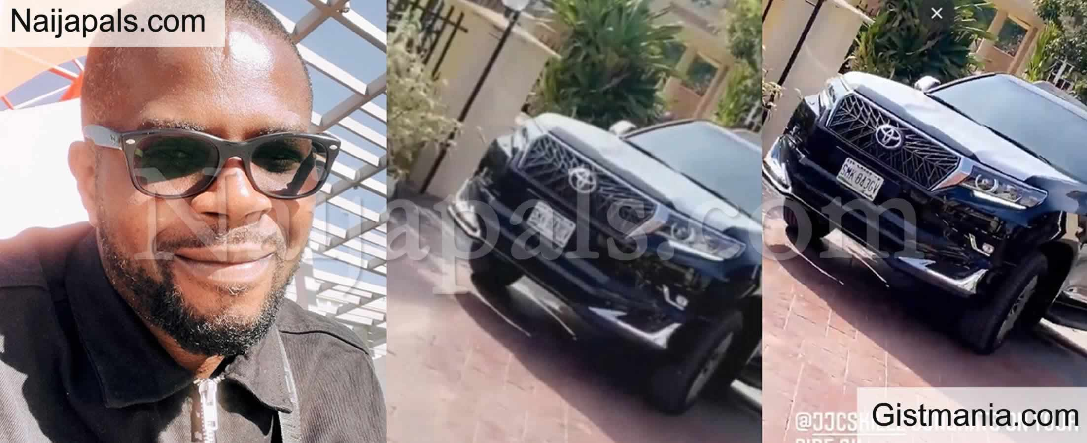 <img alt='.' class='lazyload' data-src='https://img.gistmania.com/emot/video.gif' /> <b>Funke Akindele's Husband, JJC Skillz Takes Delivery of His Own SUV</b>