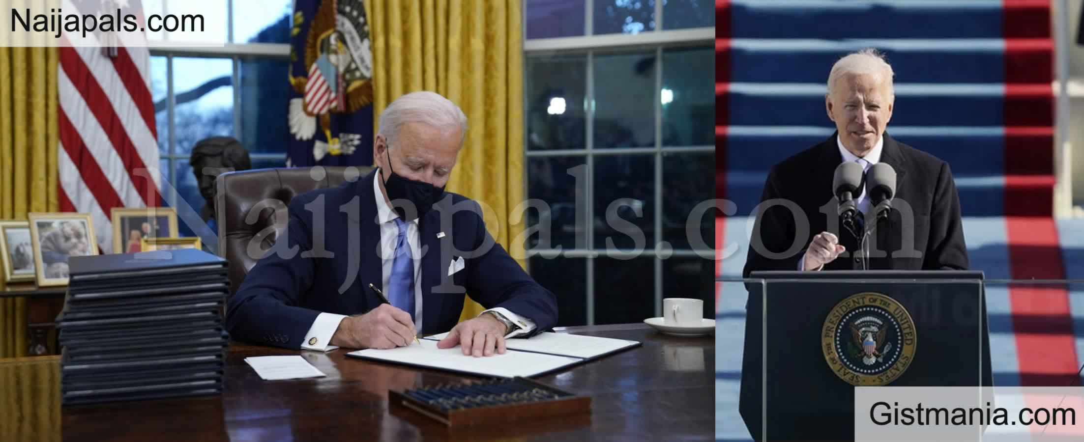 <img alt='.' class='lazyload' data-src='https://img.gistmania.com/emot/comment.gif' /> <b>New America President, Joe Biden Reverses Trump Ban On Nigeria, Others</b>