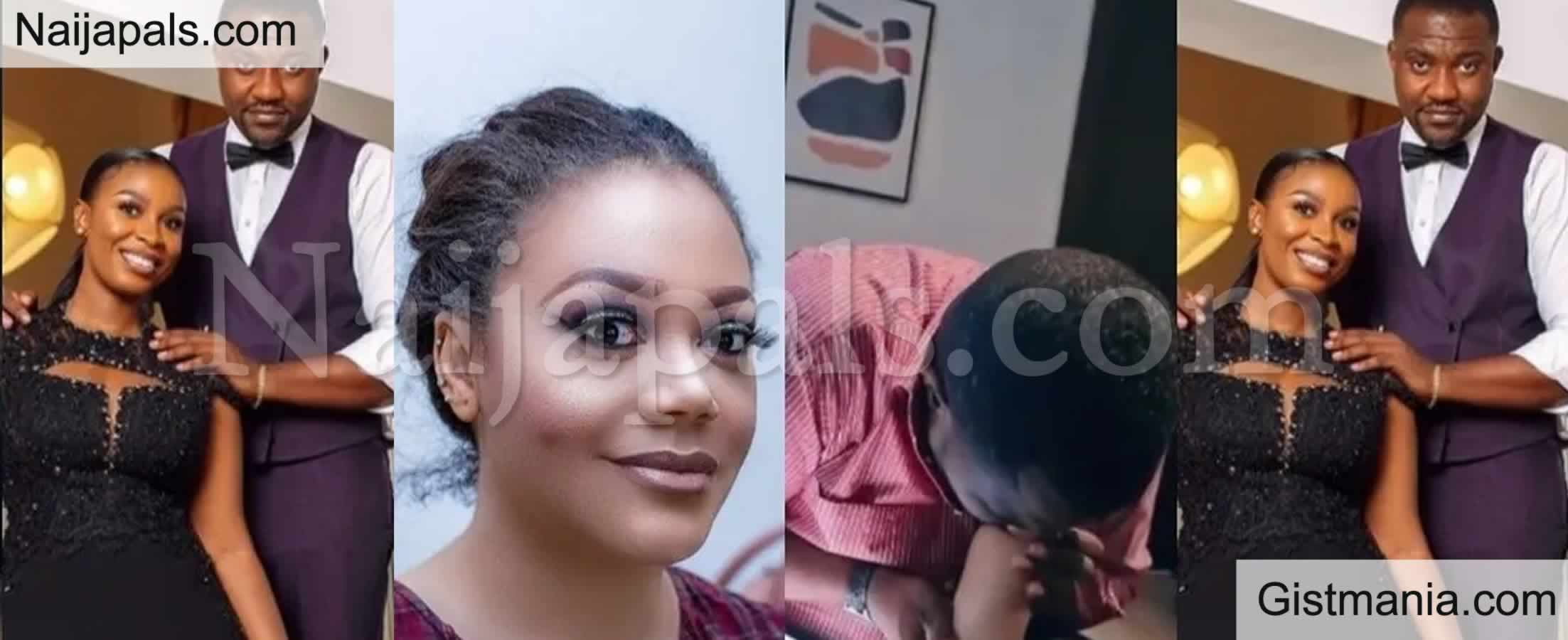 <img alt='.' class='lazyload' data-src='https://img.gistmania.com/emot/video.gif' /> <b>Wife Of Ghanaian Actor, John Dumelo Warns Nadia Buari To Stay Away From Him After A Viral Video</b>