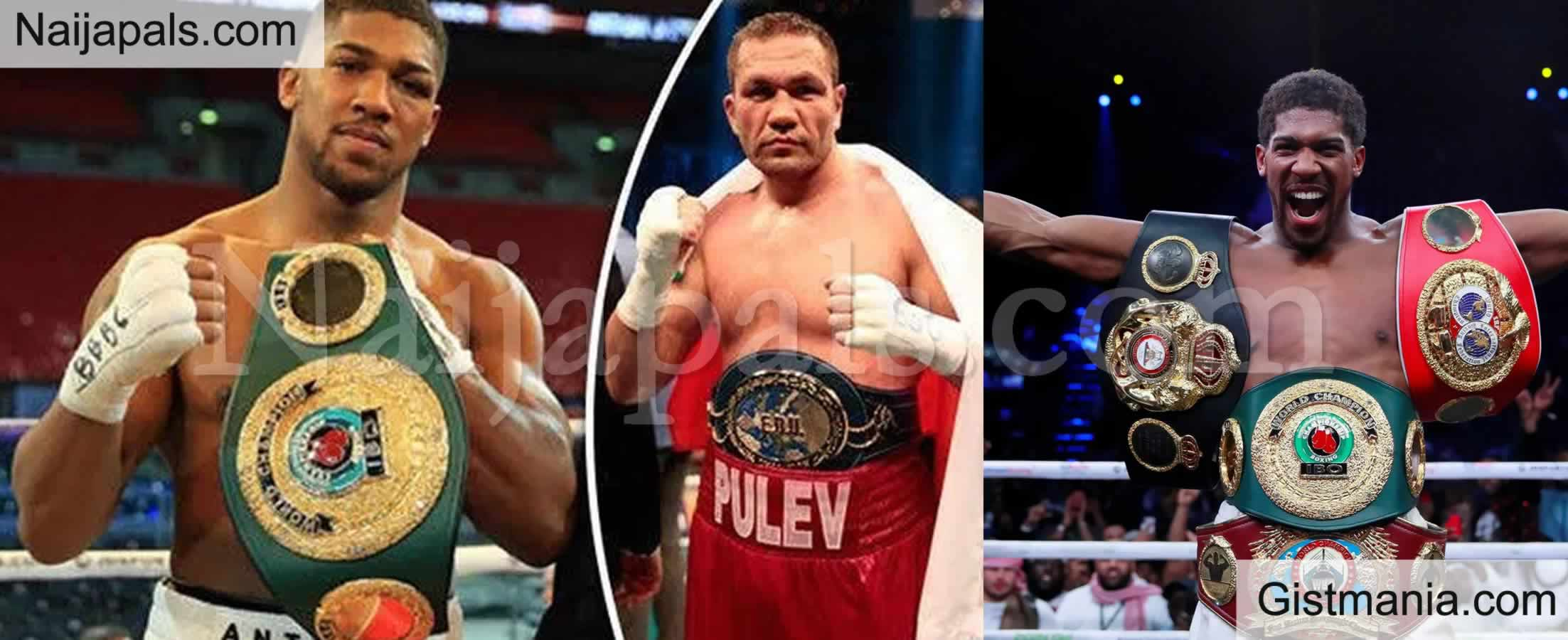 <img alt='.' class='lazyload' data-src='https://img.gistmania.com/emot/news.gif' /> <b>Joshua Sets To Defend World Titles Against Pulev In Front Of 1000 Fans At Wembley Arena</b>