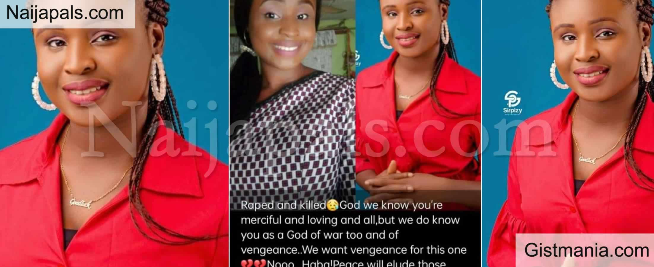 <img alt='.' class='lazyload' data-src='https://img.gistmania.com/emot/cry.gif' /> <b>Young Female Trader Joy Ogochukwu Rap3d and Killed in Benue State</b>