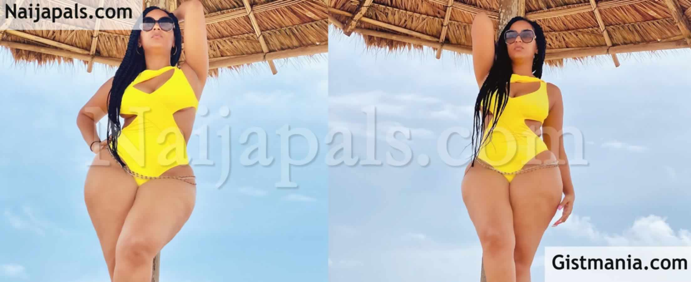 <img alt='.' class='lazyload' data-src='https://img.gistmania.com/emot/photo.png' /> <b>Ghanaian Actress, Juliet Ibrahim Flaunts Her Curves & Waistbeads In New Sexy Swimwear Photos</b>